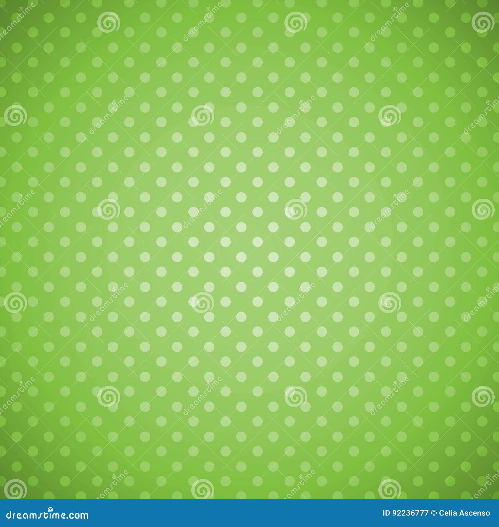 Fond grunge vert de points de polka