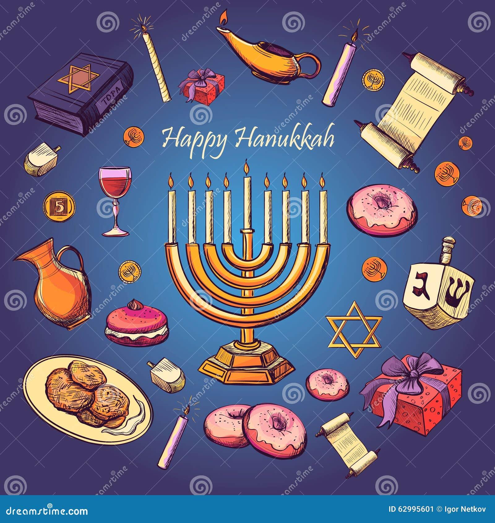 Fond heureux de salutation de vacances de Hanoucca