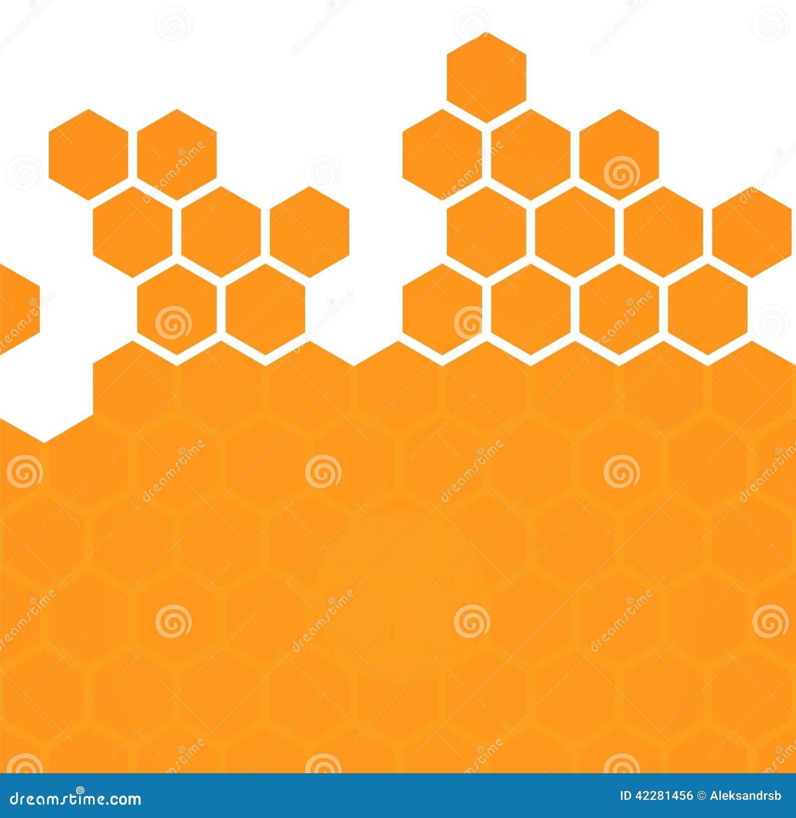 Fond hexagonal abstrait de nid d abeilles