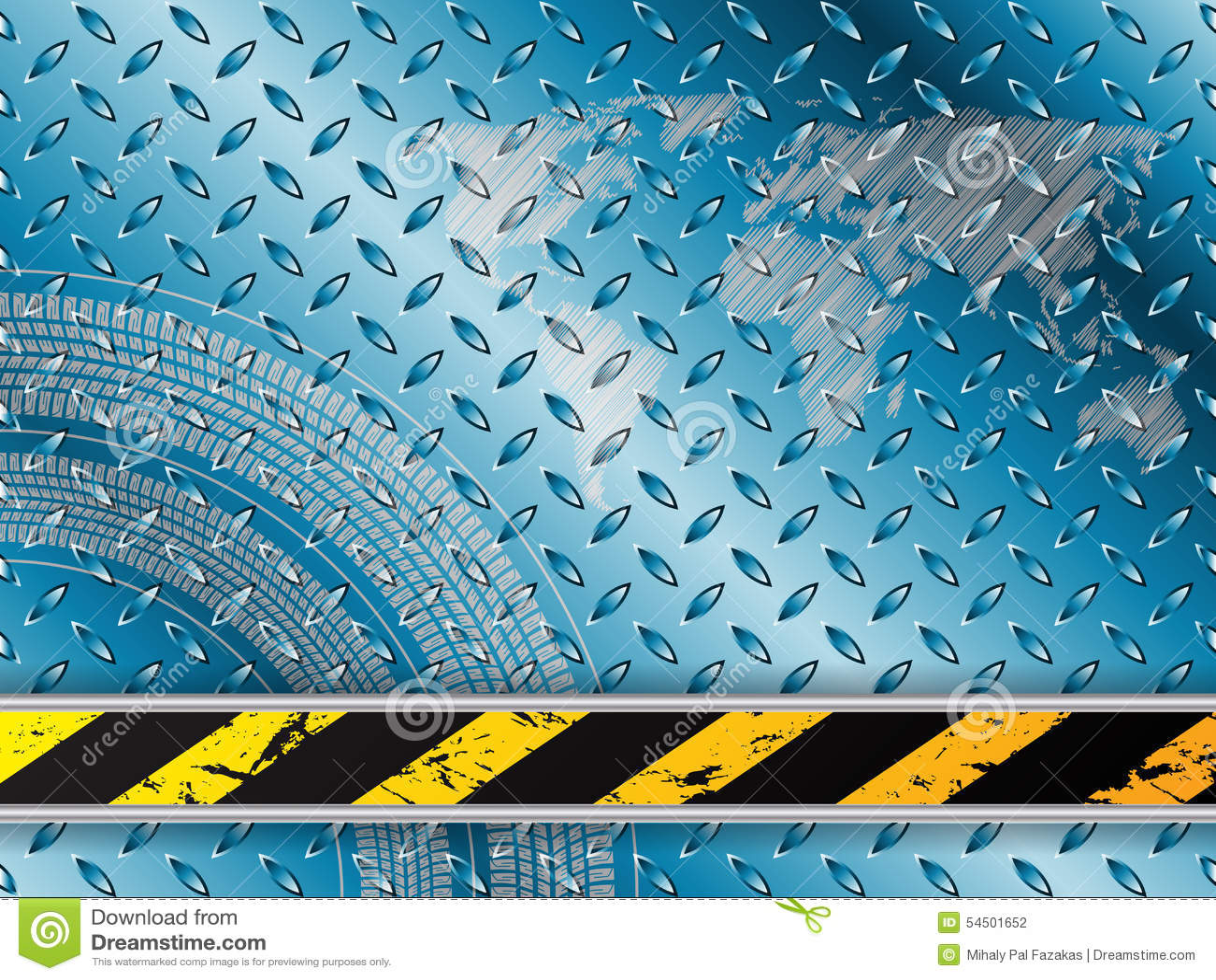 Fond industriel dans le bleu avec des bandes de roulement de pneu