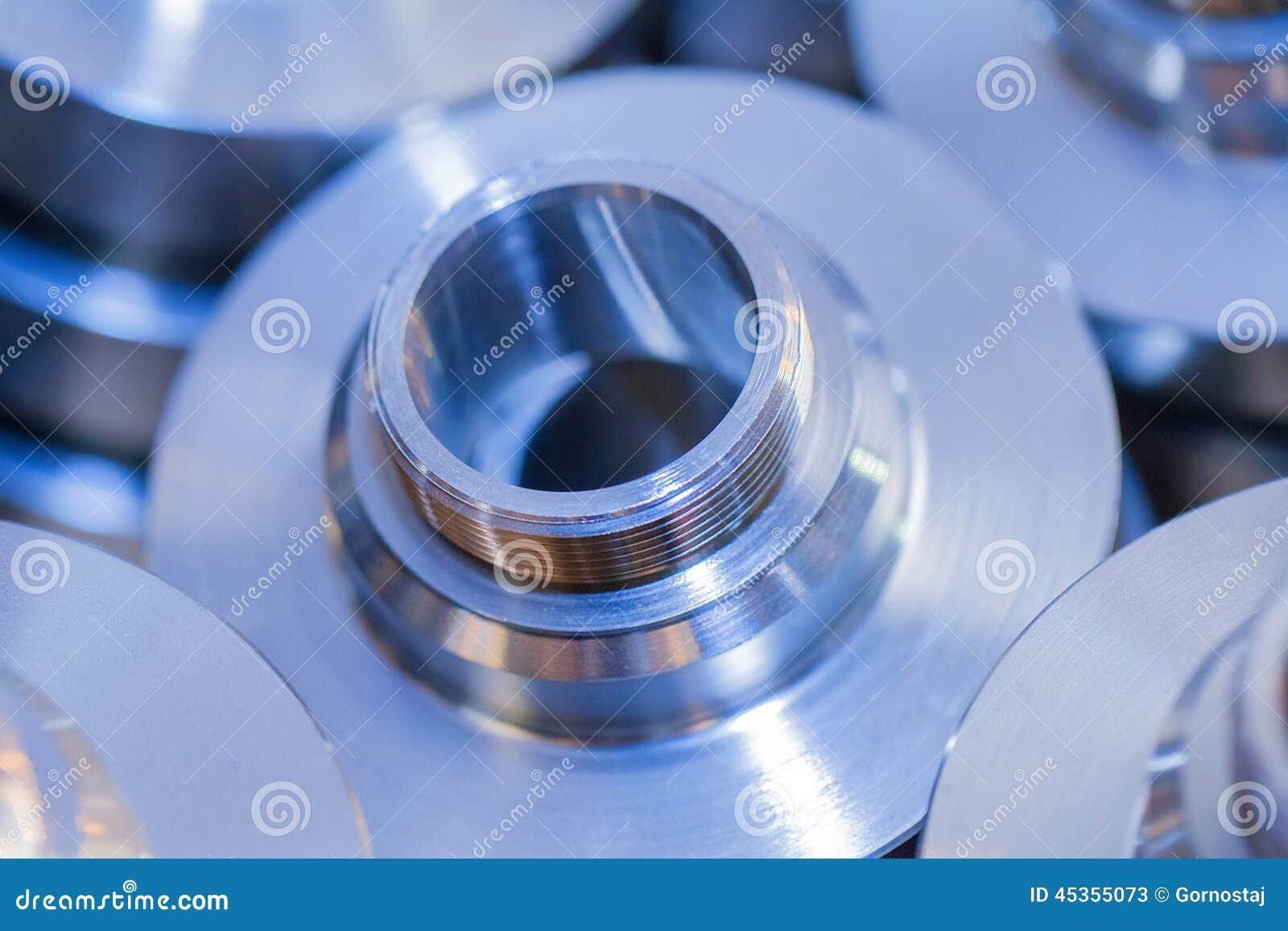 Fond industriel des pièces métalliques de cercle