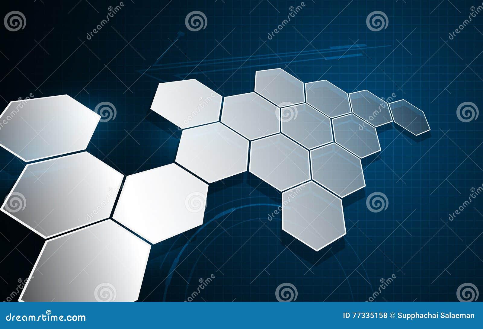 Fond innovateur abstrait de concept du sci fi de technologie de modèle de structure d hexagone