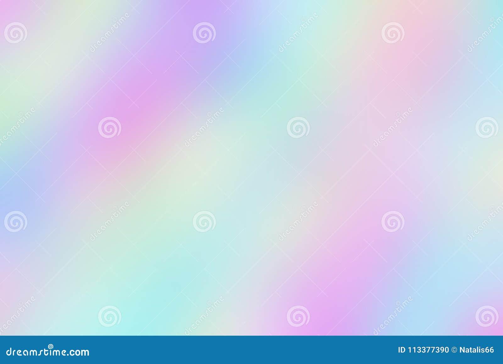 Fond iridescent peu clair brouillé de papier olographe lisse