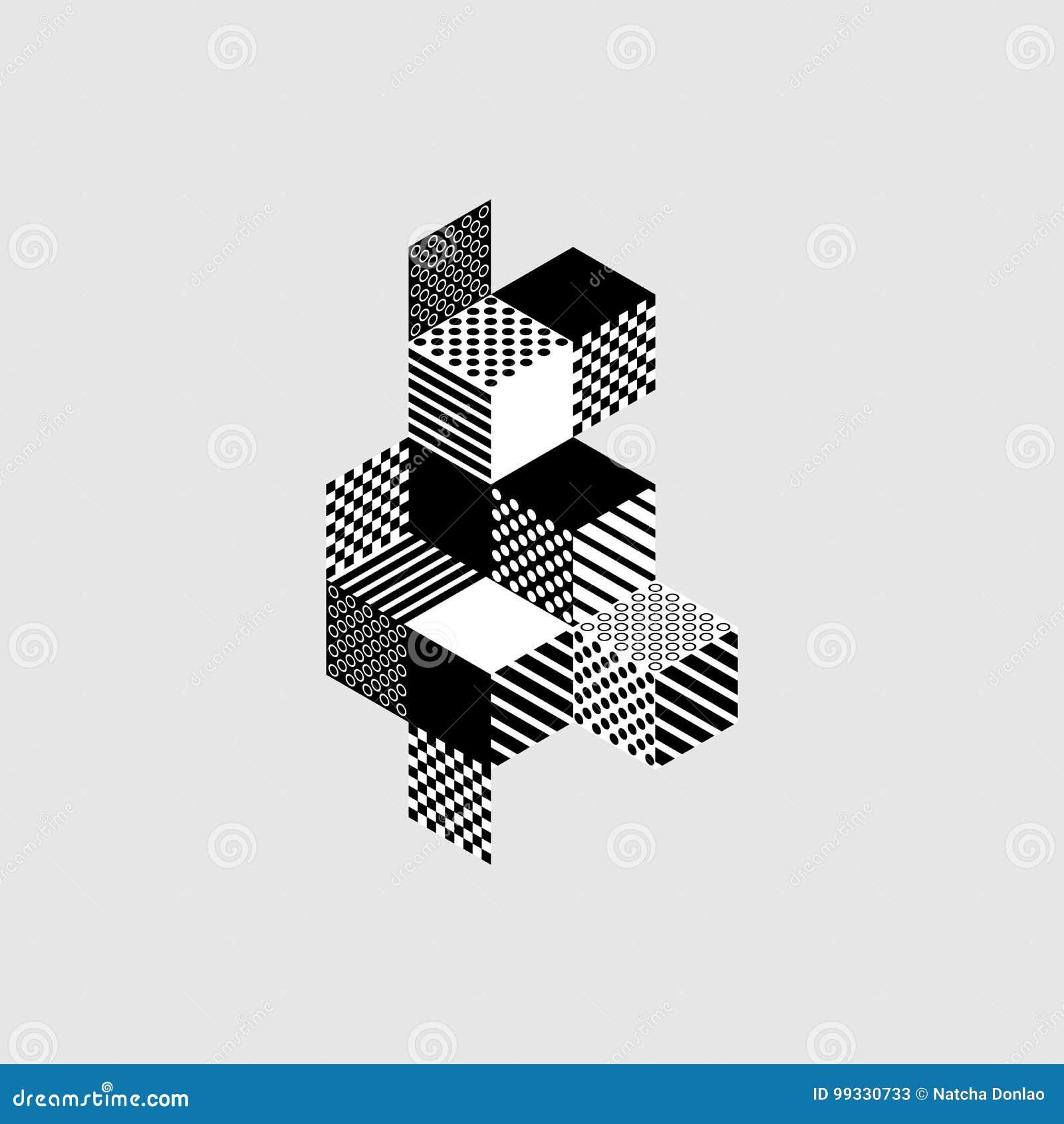 Fond isométrique moderne géométrique abstrait de composition