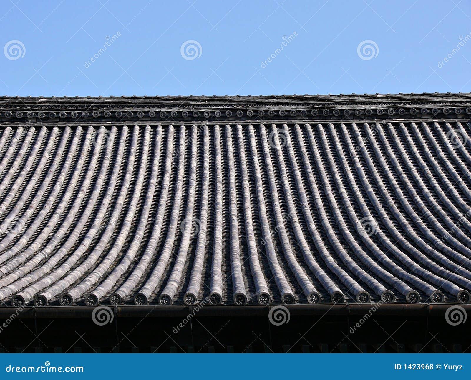 fond japonais de toit de temple photo stock image du bois japonais 1423968. Black Bedroom Furniture Sets. Home Design Ideas