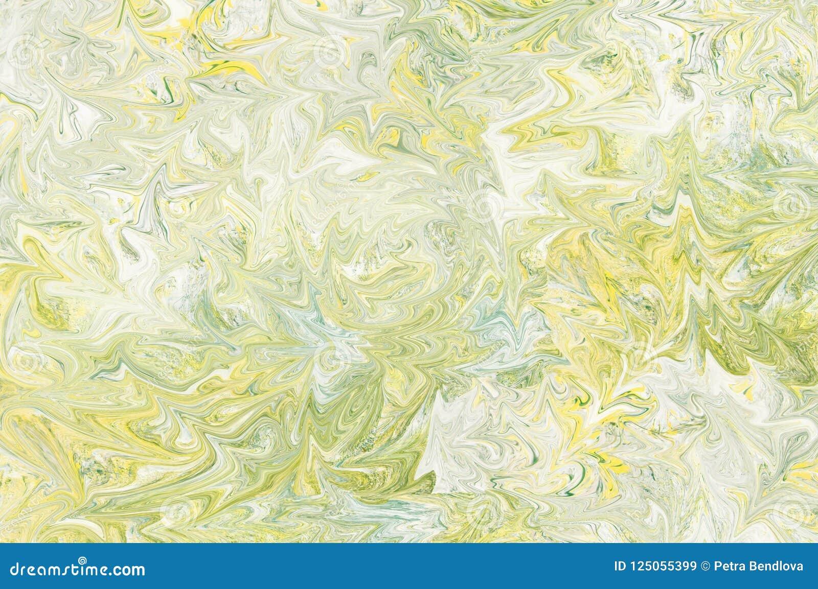 Fond Jaune Bleu Clair Et Vert Gris Dabrégé Sur Peinture Liquide