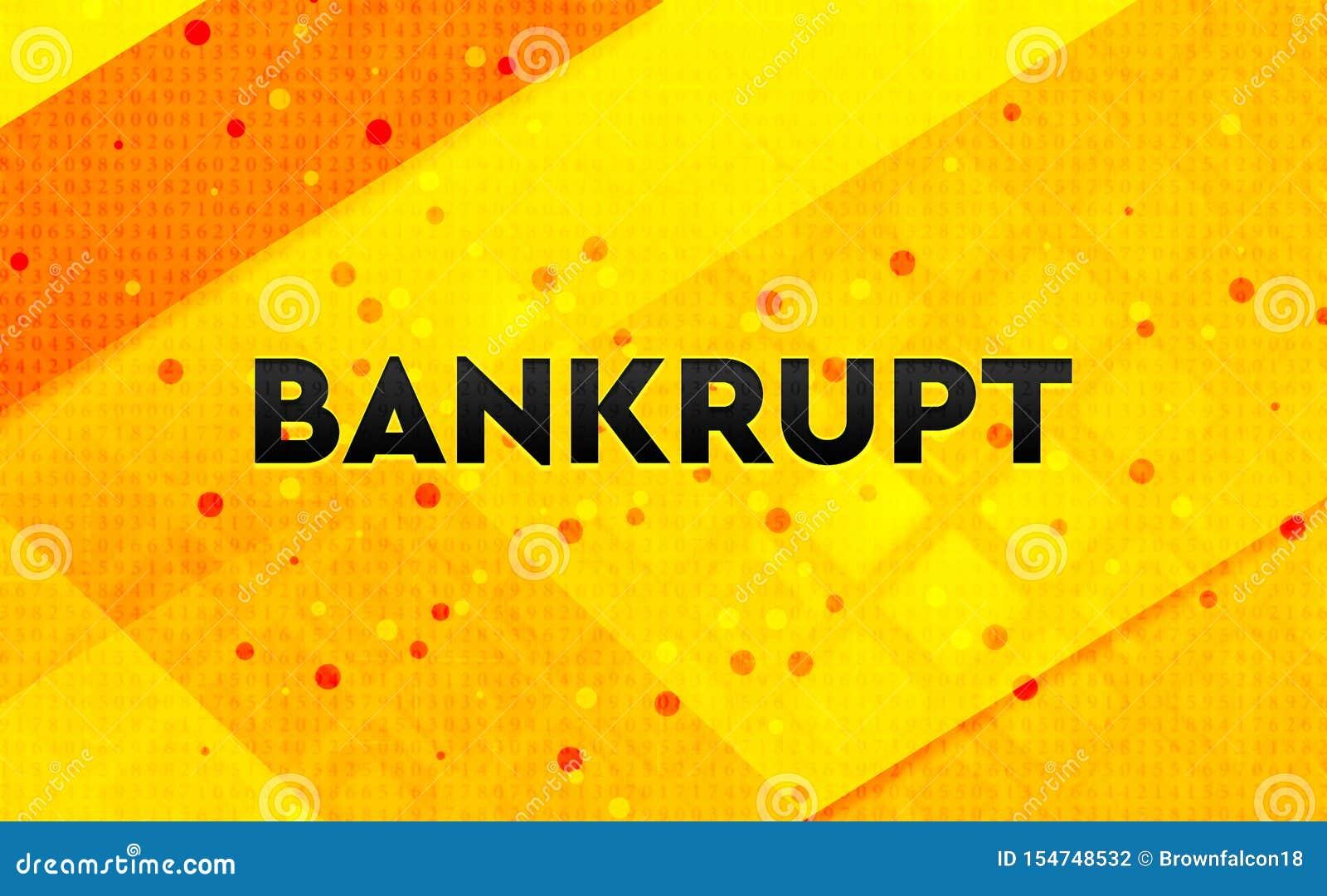 Fond jaune de bannière numérique abstraite faillite