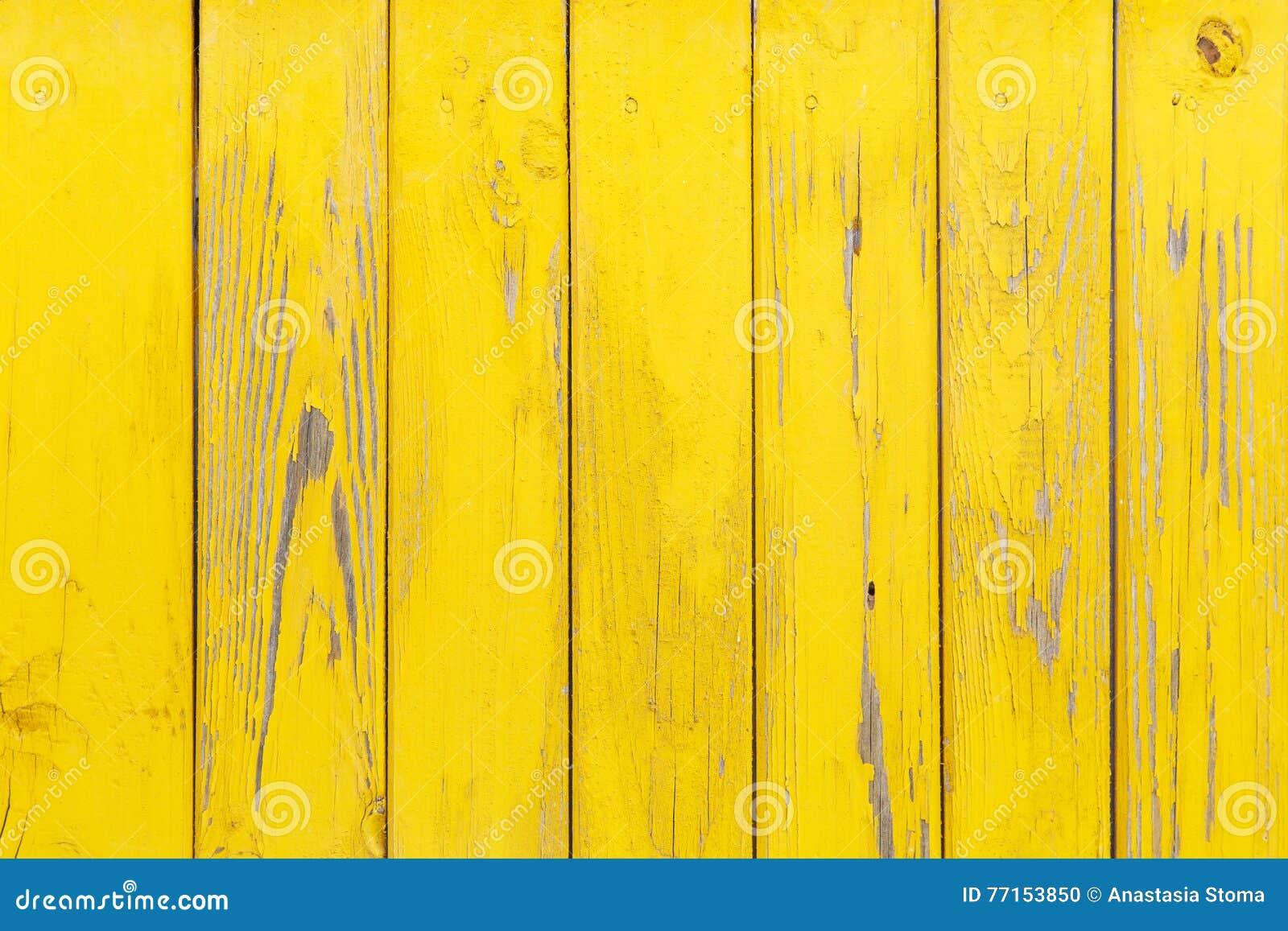 Fond jaune en bois