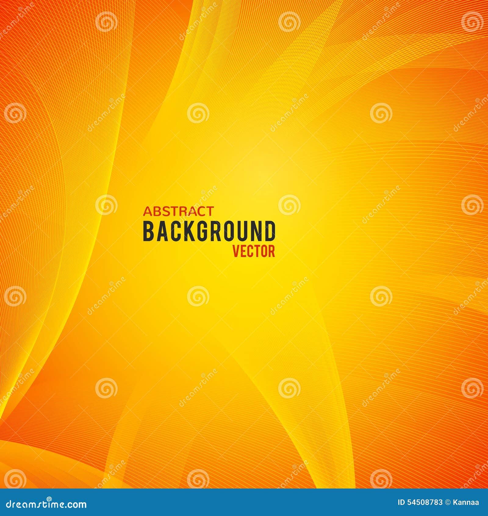 Fond jaune et orange abstrait Vecteur