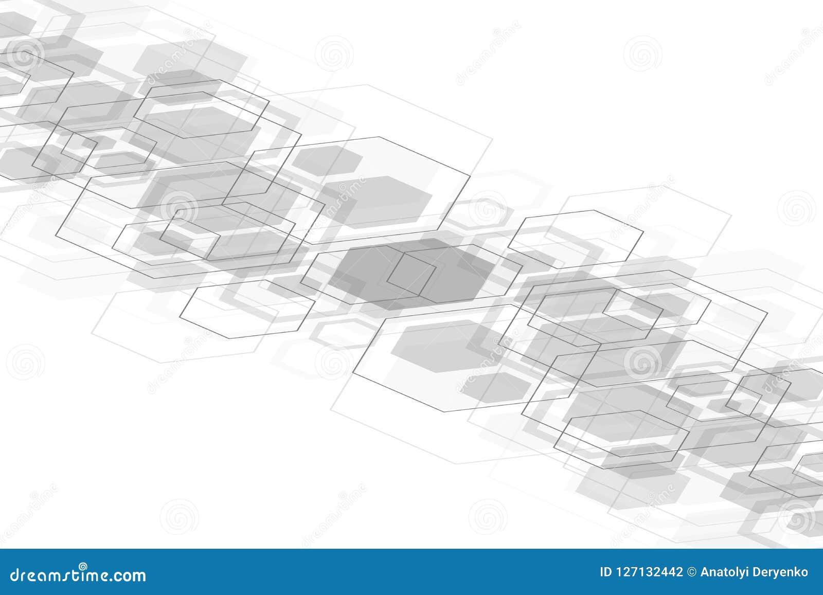 Fond médical abstrait Recherche d ADN Molécule de structure et fond hexagonaux de communication pour la médecine
