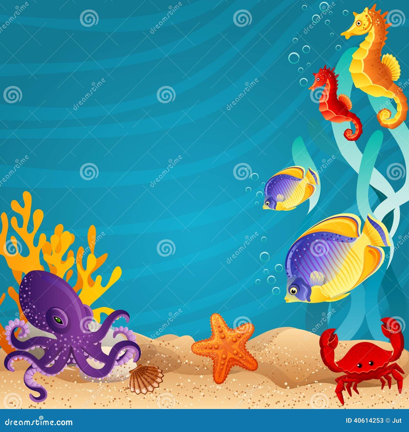Fond Marin Illustration de Vecteur - Image: 40614253