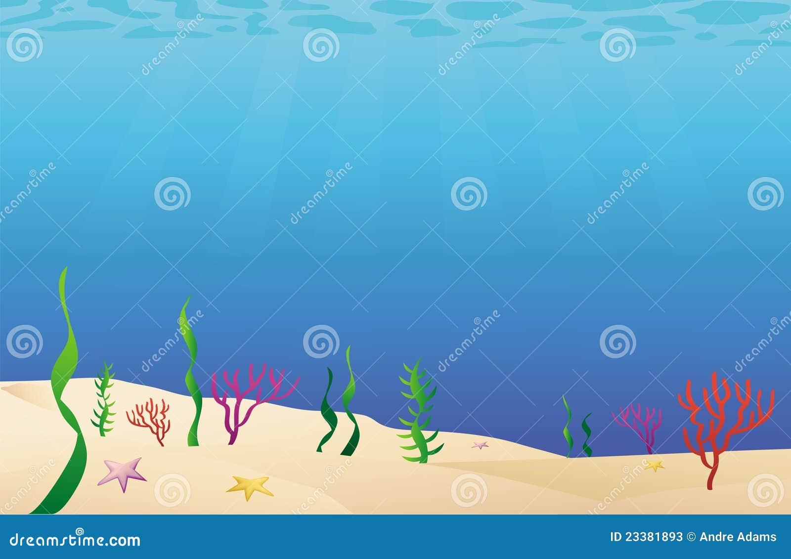 Fond Marin De Fond Océanique Illustration de Vecteur - Illustration du bâti, algues: 23381893