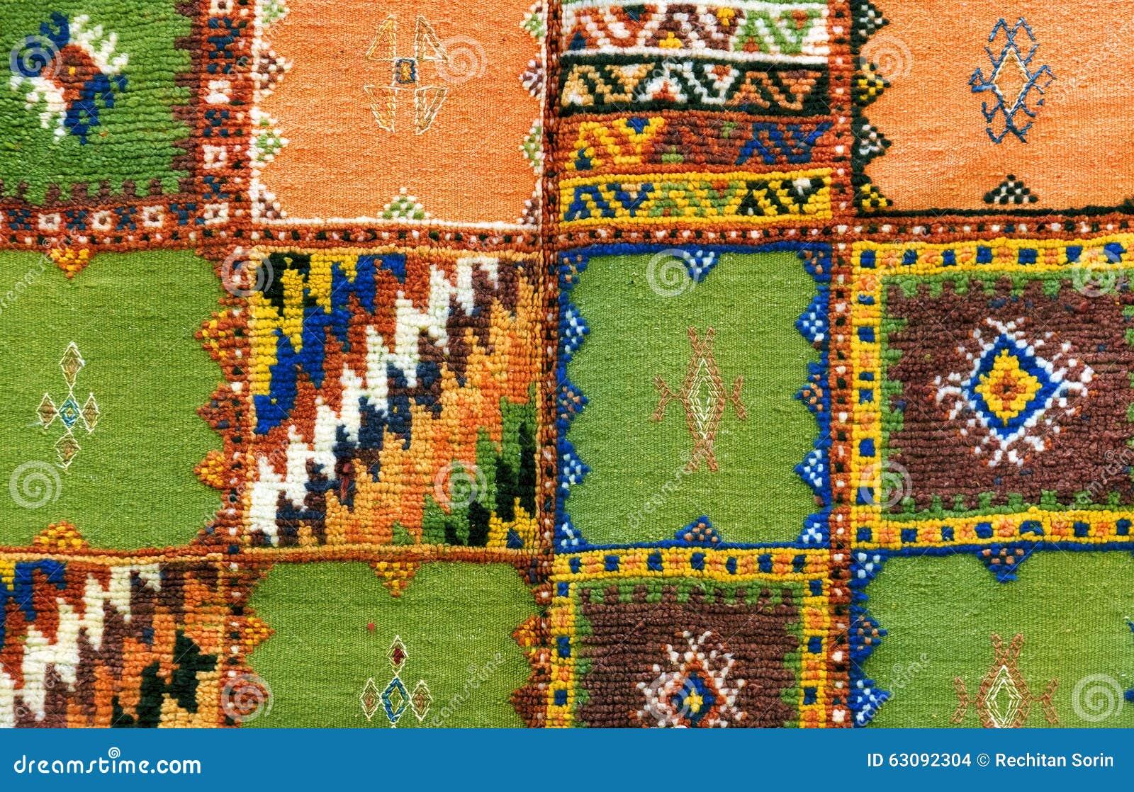 Download Fond marocain de tapis photo stock. Image du handicraft - 63092304