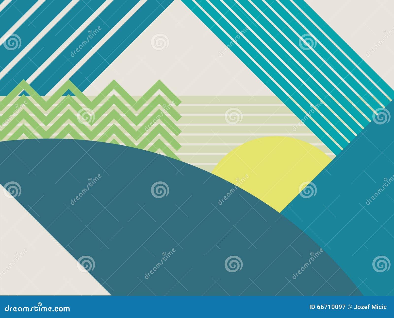 Fond matériel abstrait de vecteur de paysage de conception Montagnes et formes géométriques polygonales de forêts