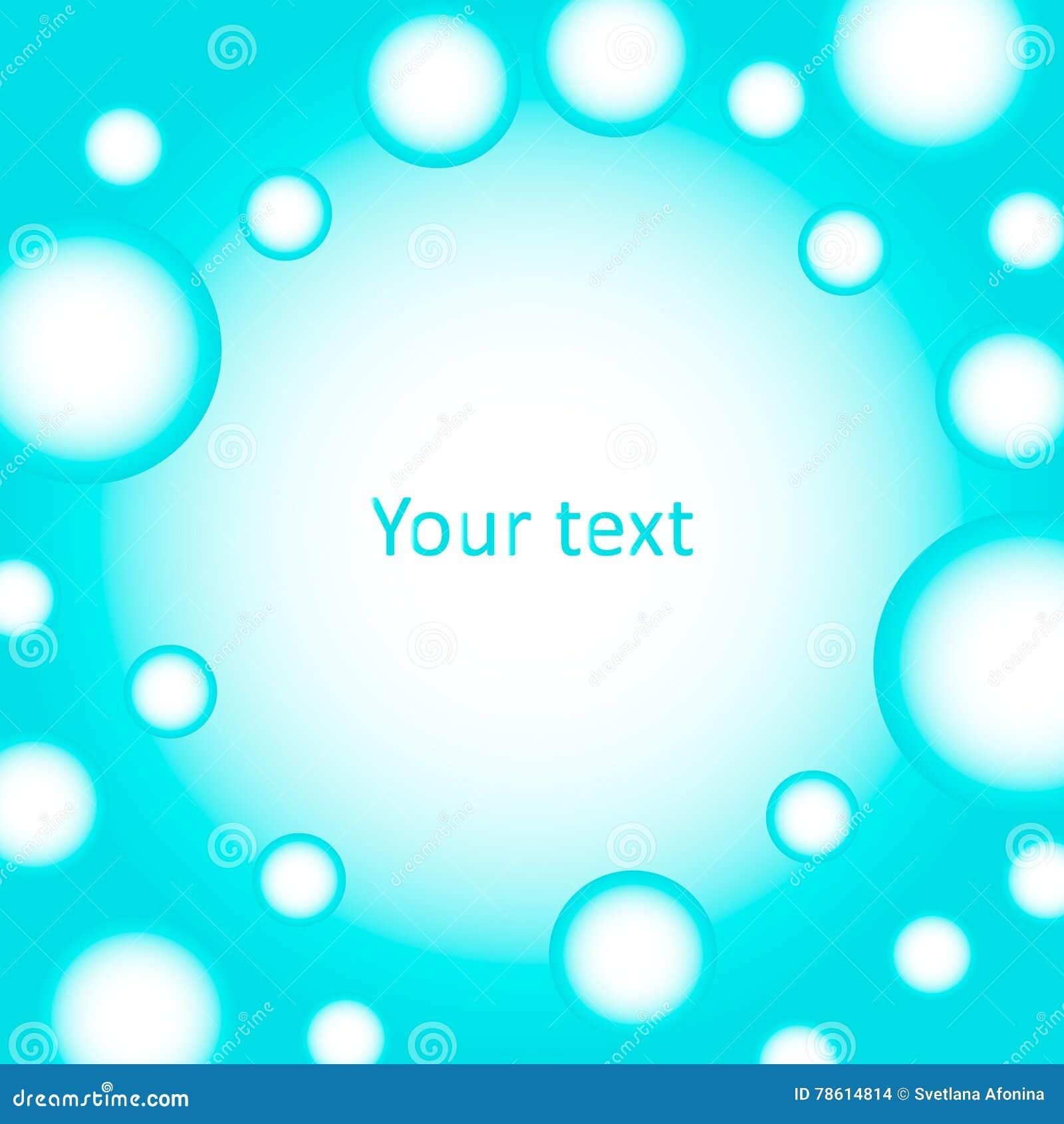 Fond mignon des bulles bleues pour le texte