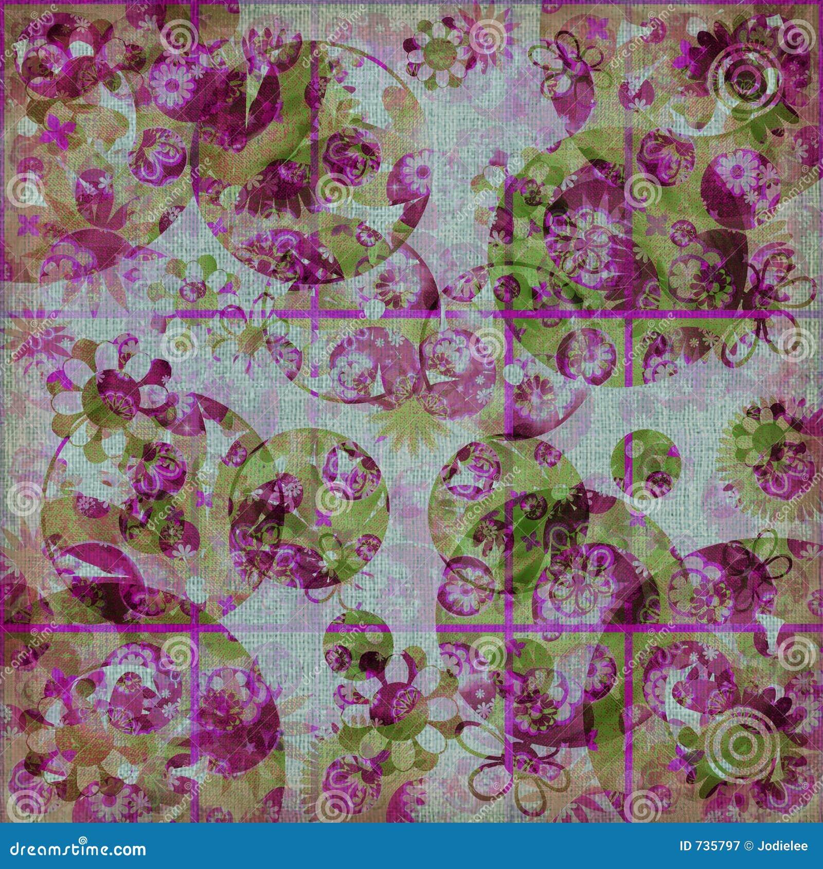 Fond minable de frénésie florale