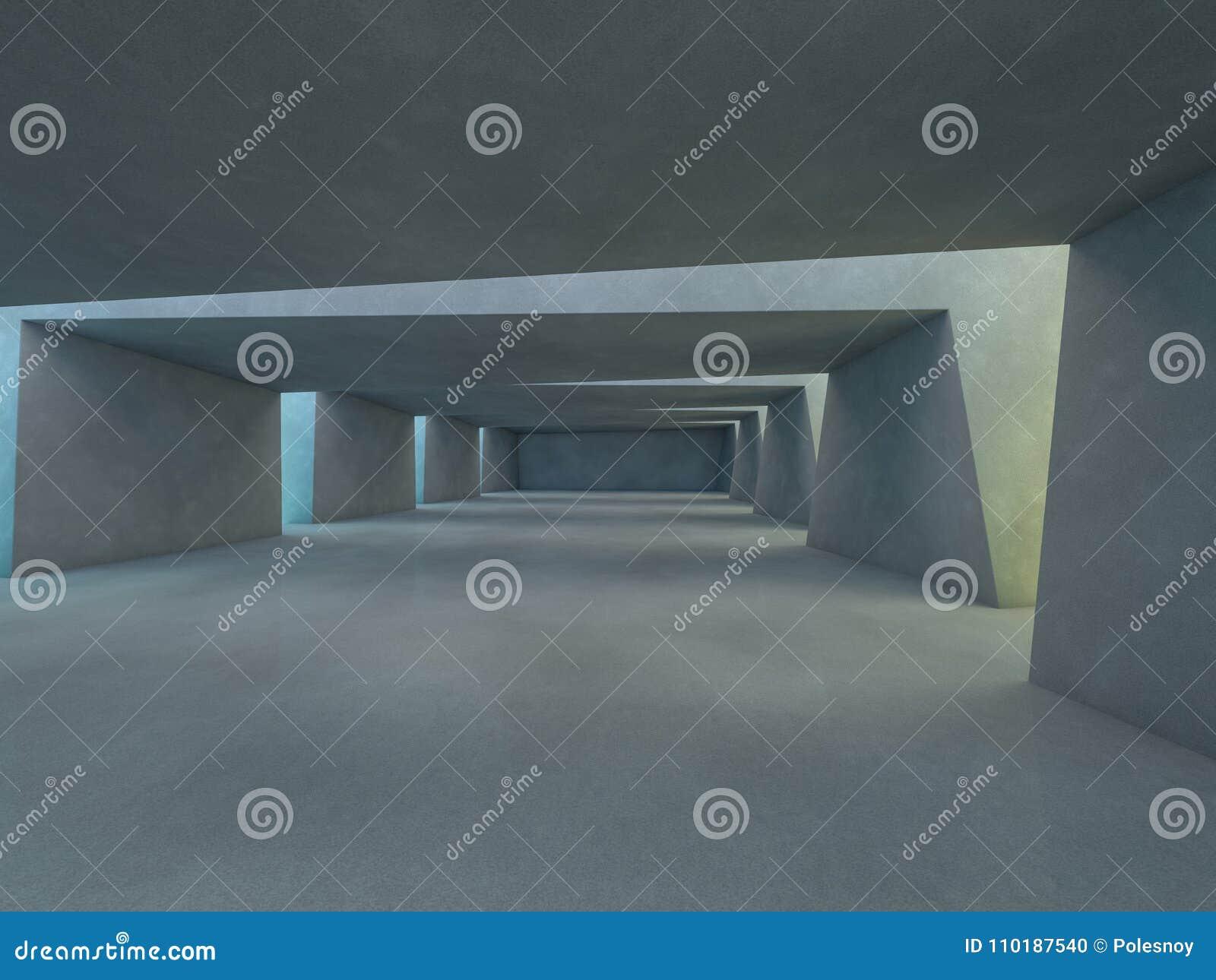 Fond moderne abstrait d architecture rendu 3d