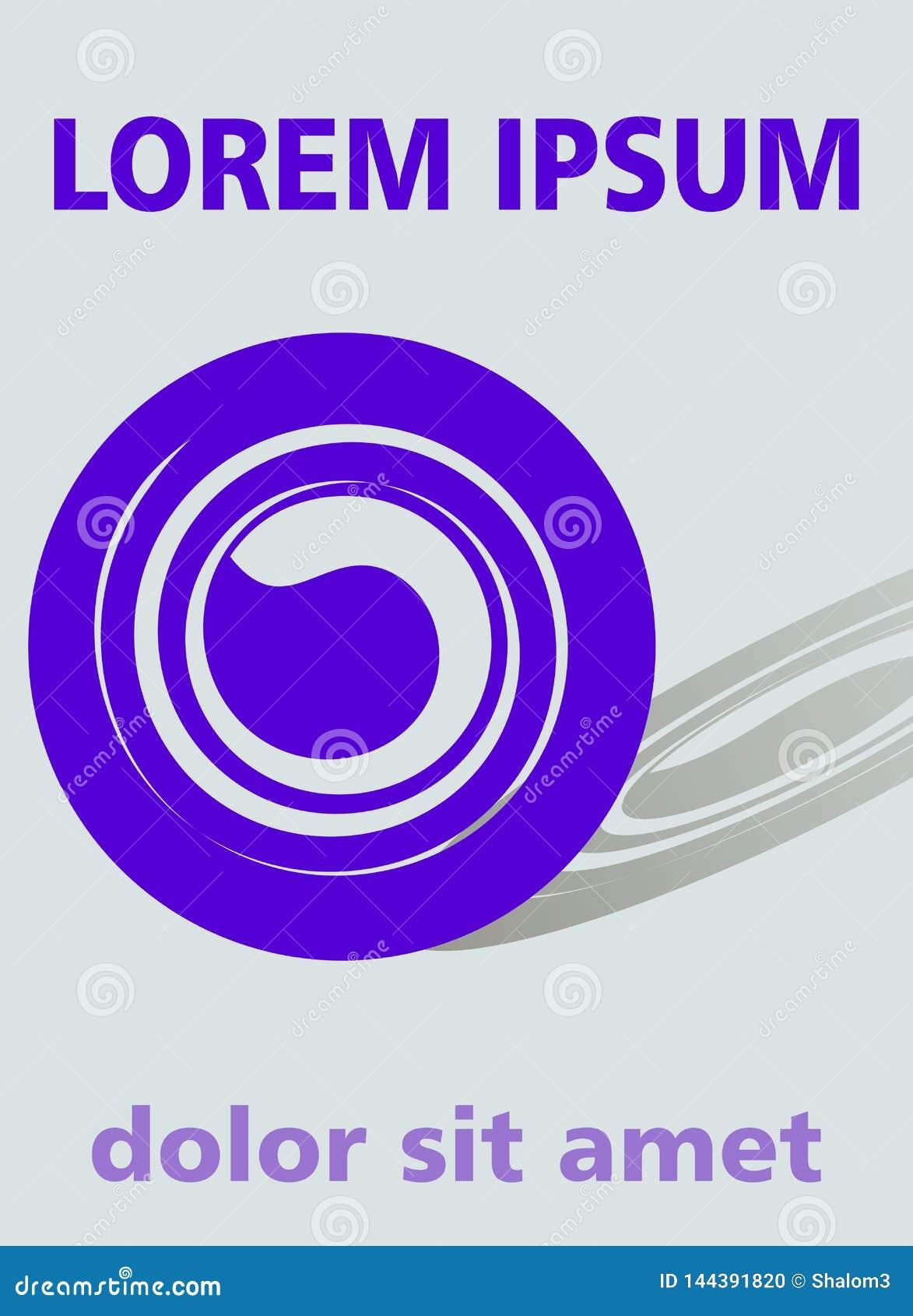 Fond moderne avec la forme pourpre à la mode d abrégé sur cercle et son ombre cultivée sur le fond, la couverture de livre gris o