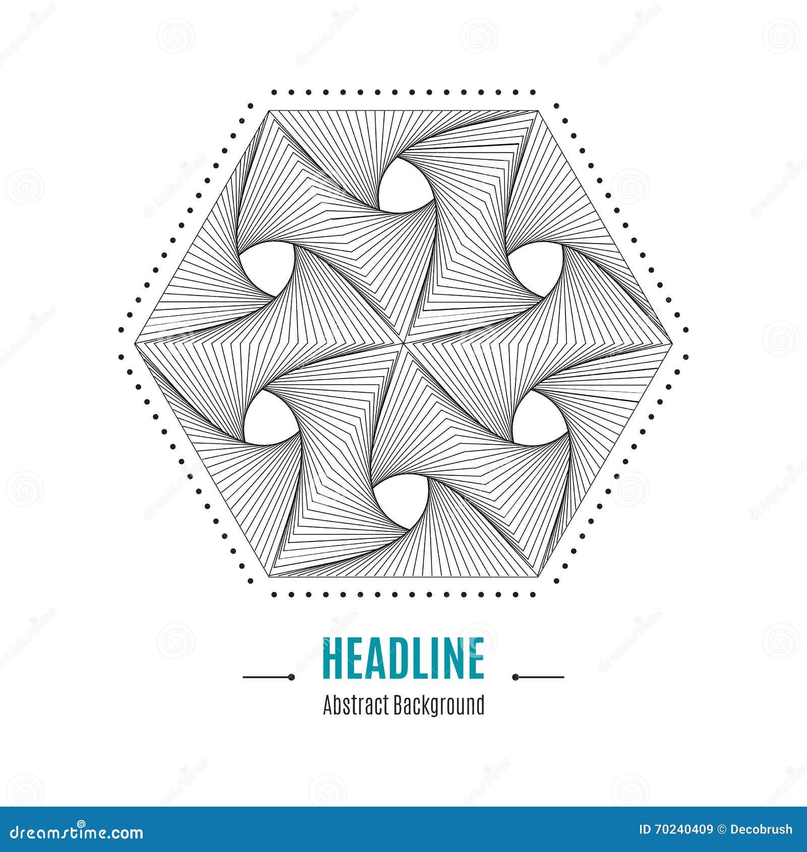 Beliebt Fond Moderne De Forme Géométrique Abstraite Hexagonale Du Vecteur  LA18