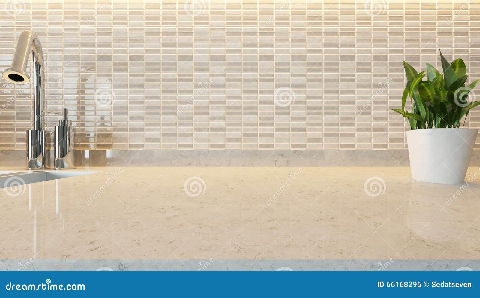 Fond moderne en c ramique blanc de conception de cuisine avec le marb de cuisine illustration - Conception de cuisine ...