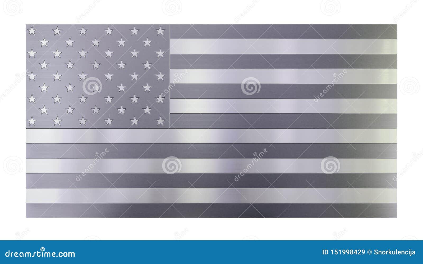 Fond moderne frais d isolement, drapeau d isolement des Etats-Unis fabriqué à partir de différents types de planches balayées en
