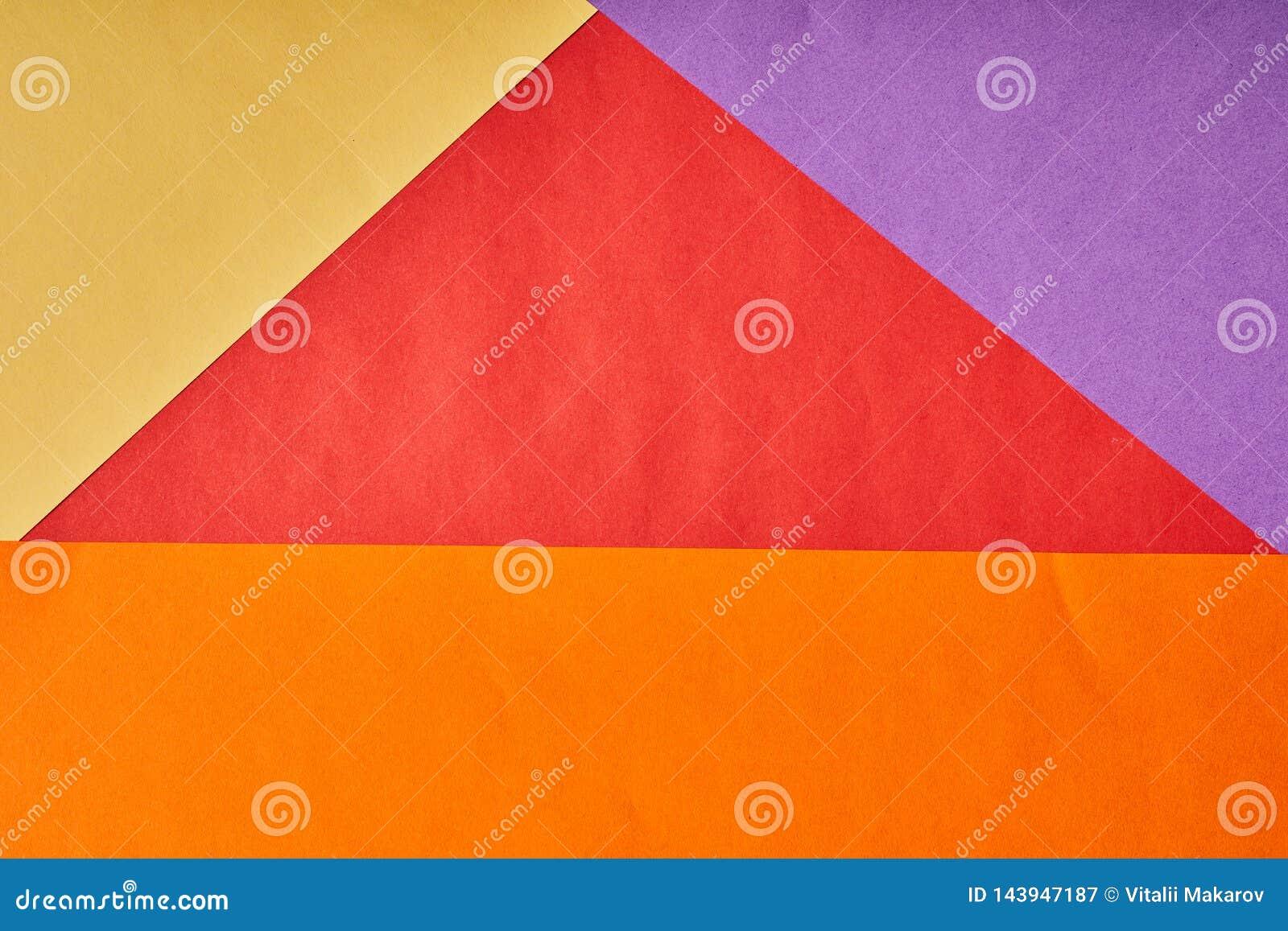Fond multicolore de plusieurs feuilles de papier