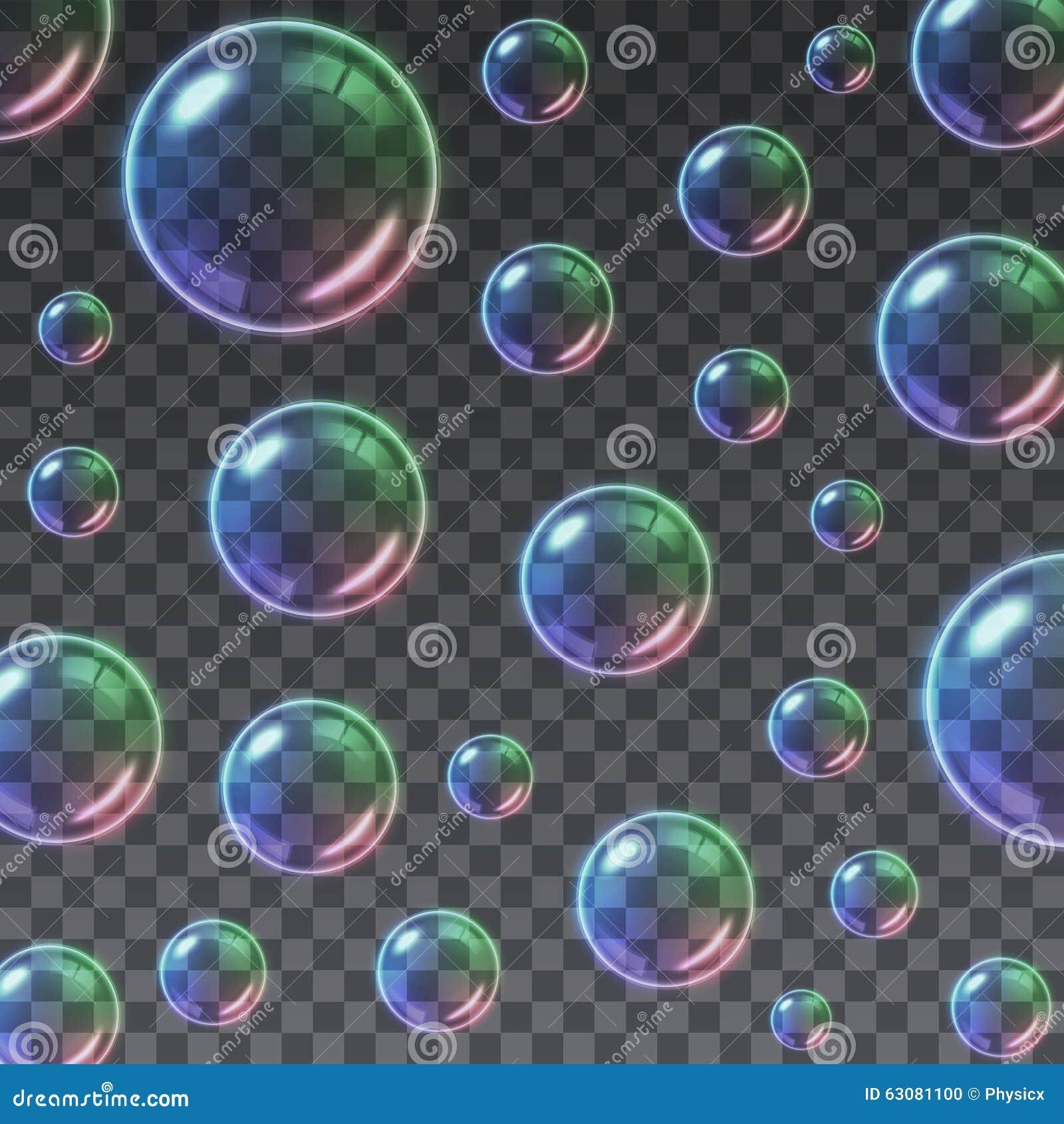 Download Fond Multicolore Transparent De Bulles De Savon Illustration de Vecteur - Illustration du glace, propre: 63081100