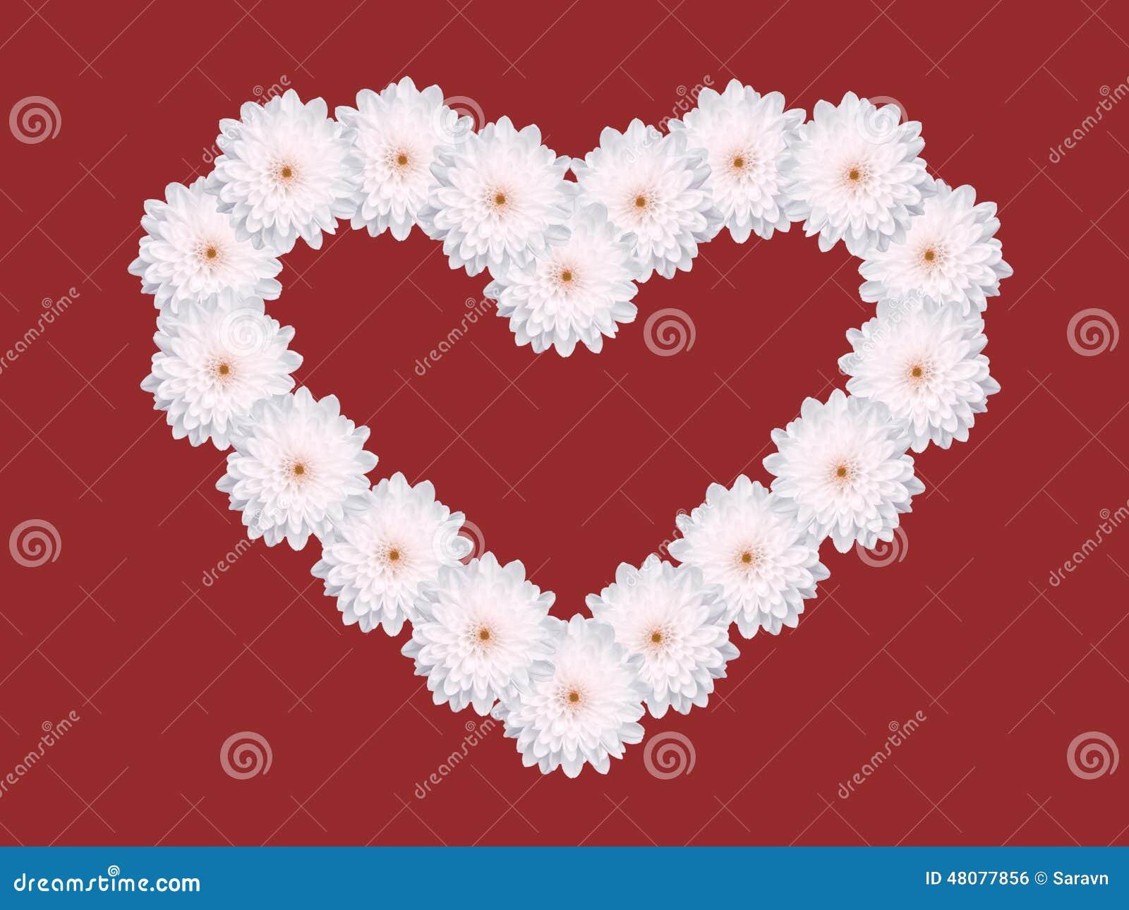 Fond multiple de rouge de carte de jour de valentines de forme de coeur de fl - Fleur en forme de coeur ...