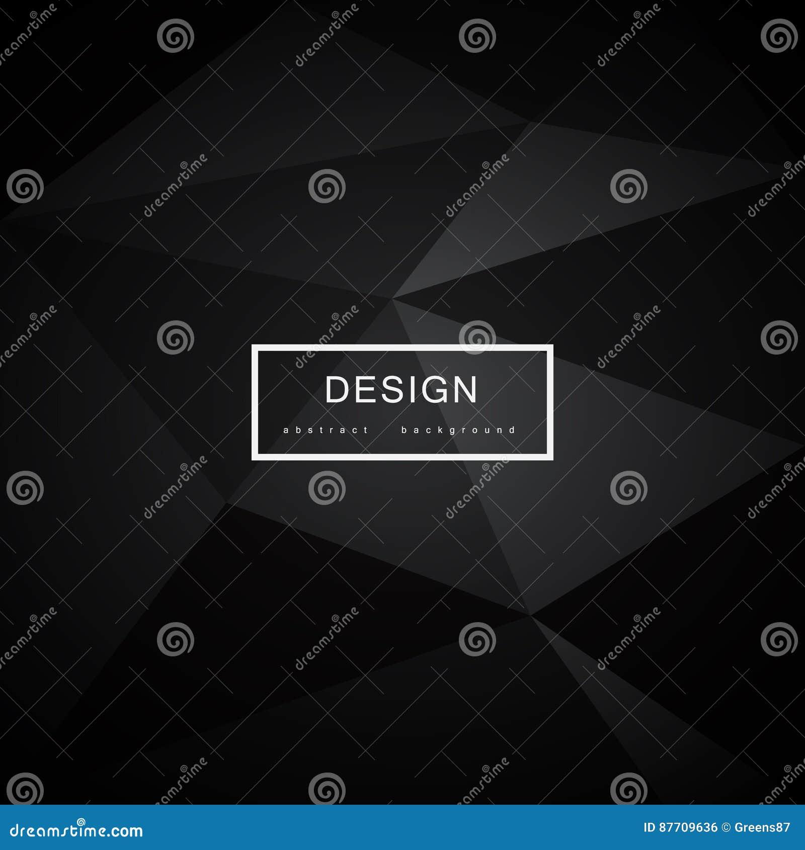 Fond noir abstrait avec des triangles
