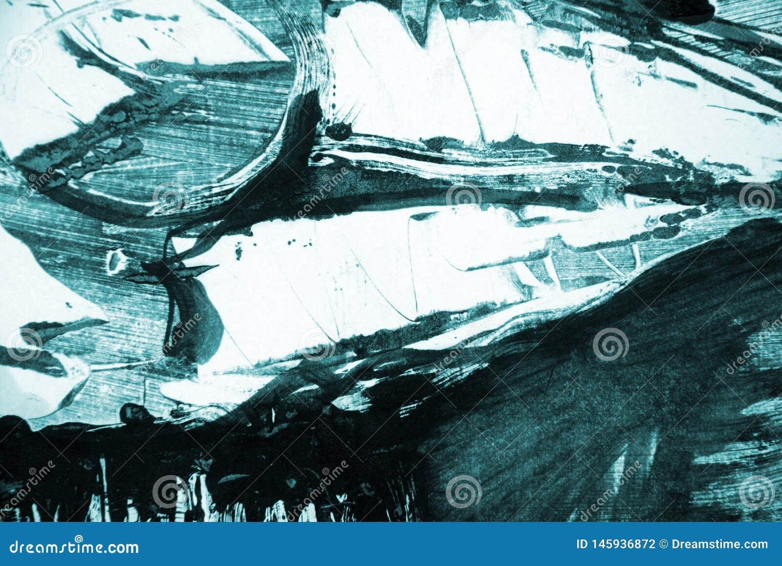 Fond noir blanc vert bleu de courses de pinceau