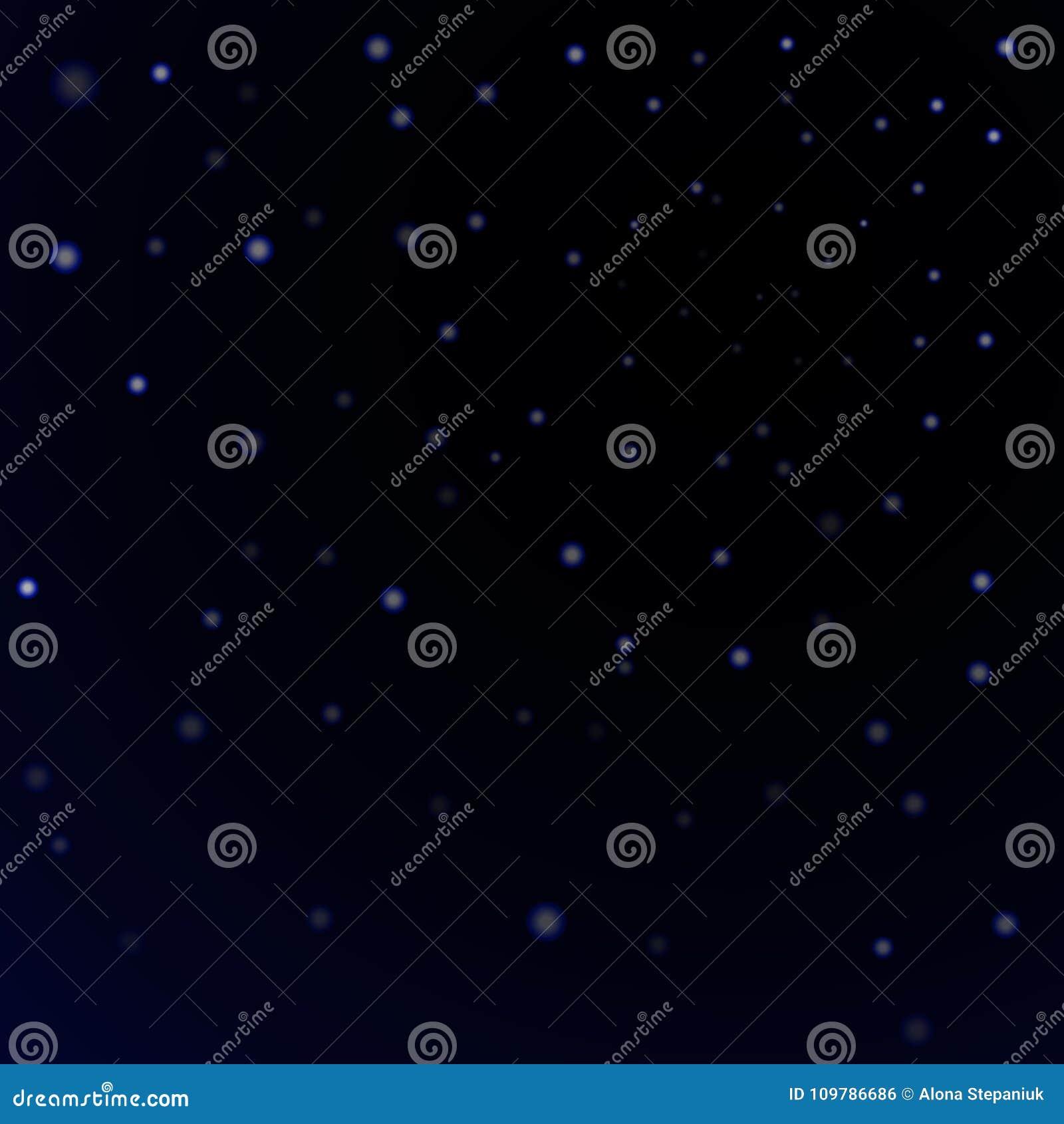 Fond noir de ciel nocturne d étoiles bleues Scintillement léger abstrait Étincelles d imagination Texture de Noël d éclat, lueur