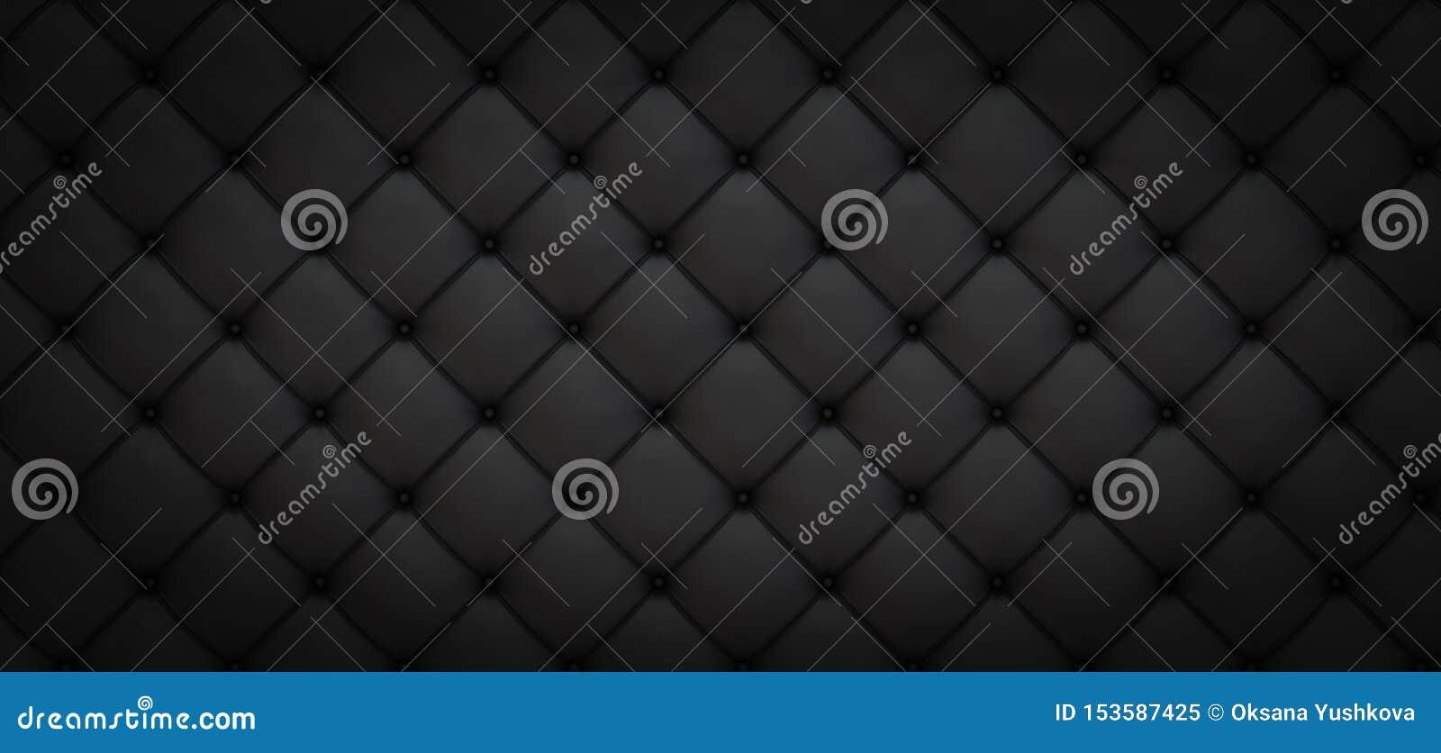 Fond noir des losanges ovales avec des boutons - illustration 3D