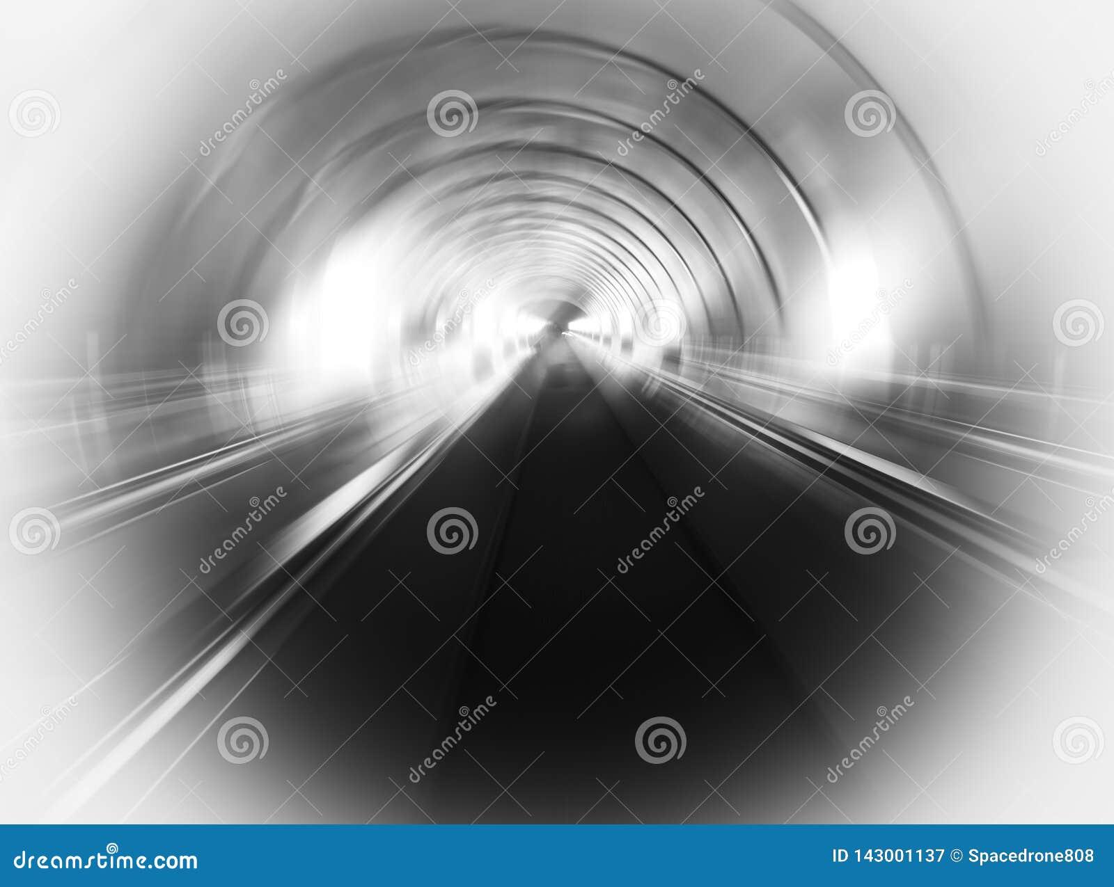 Fond noir et blanc diagonal de tunnel de transport