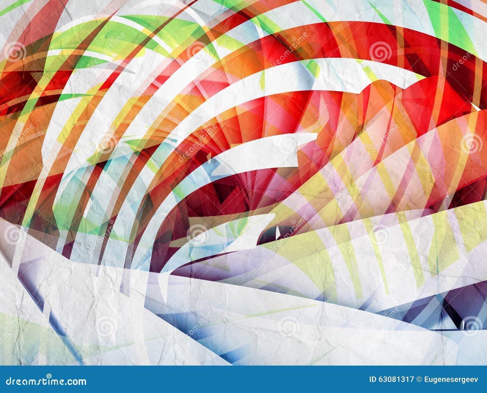 Download Fond Numérique Abstrait Avec La Spirale 3d Colorée Illustration Stock - Illustration du courbé, cercles: 63081317