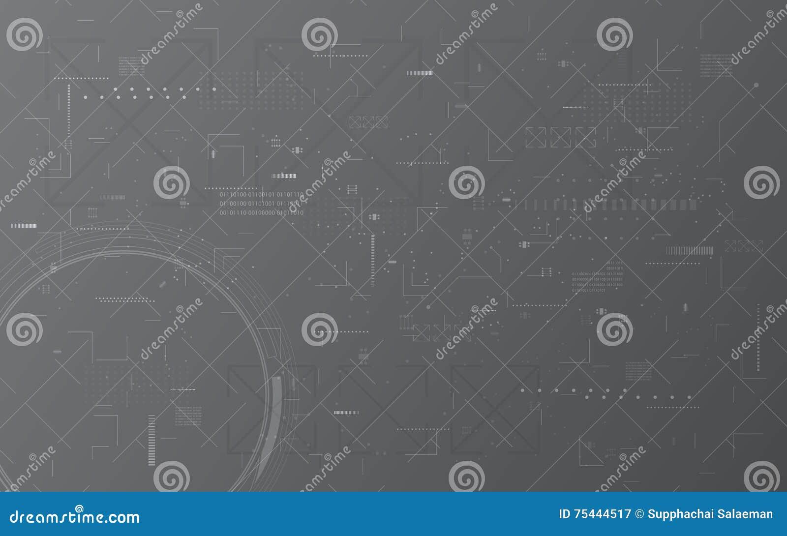 Fond numérique abstrait de concept de construction de montage de modèle de texture d ordinateur de transmission de technologie