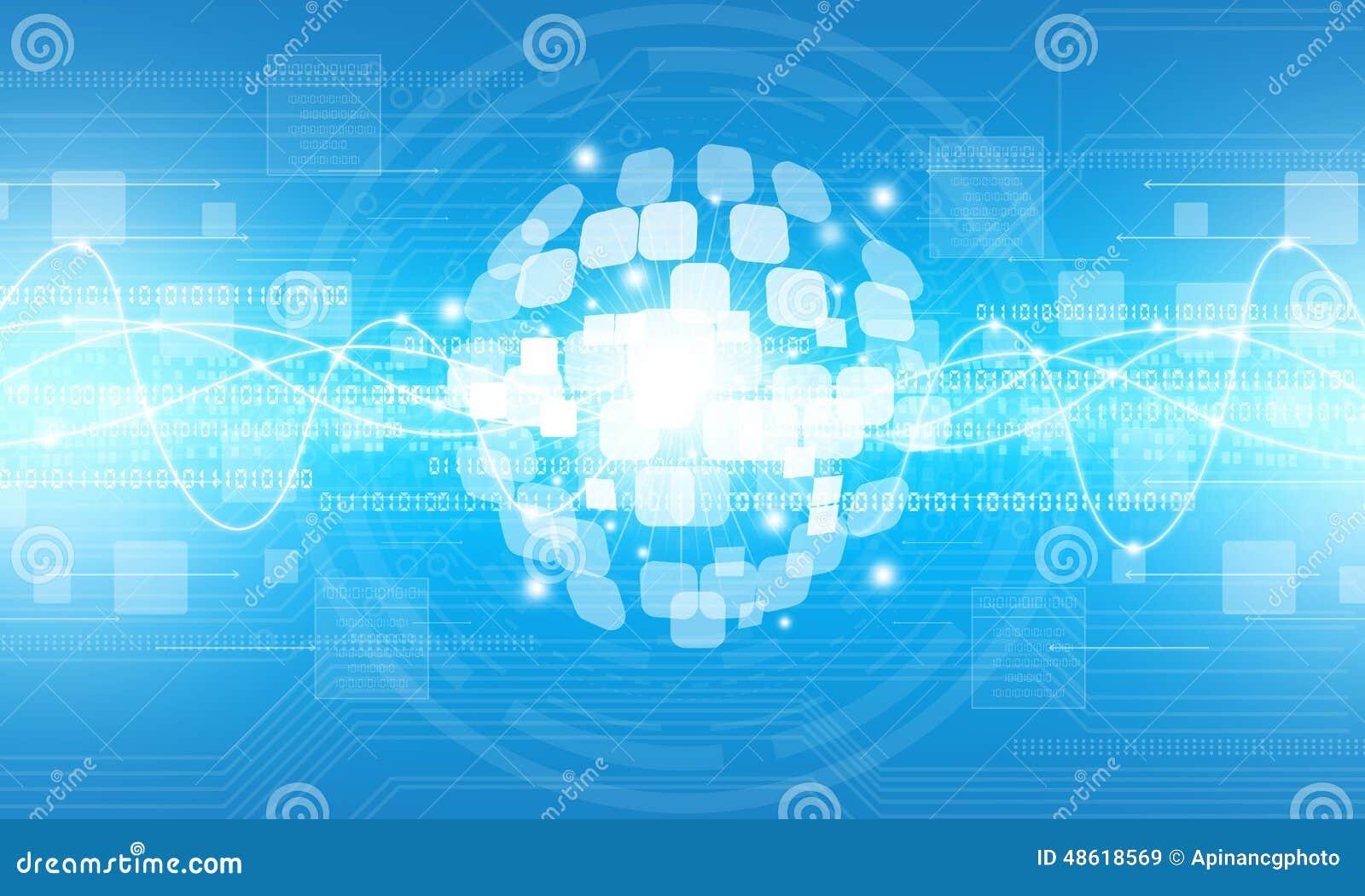 Fond numérique abstrait de connexion de technologie de globe