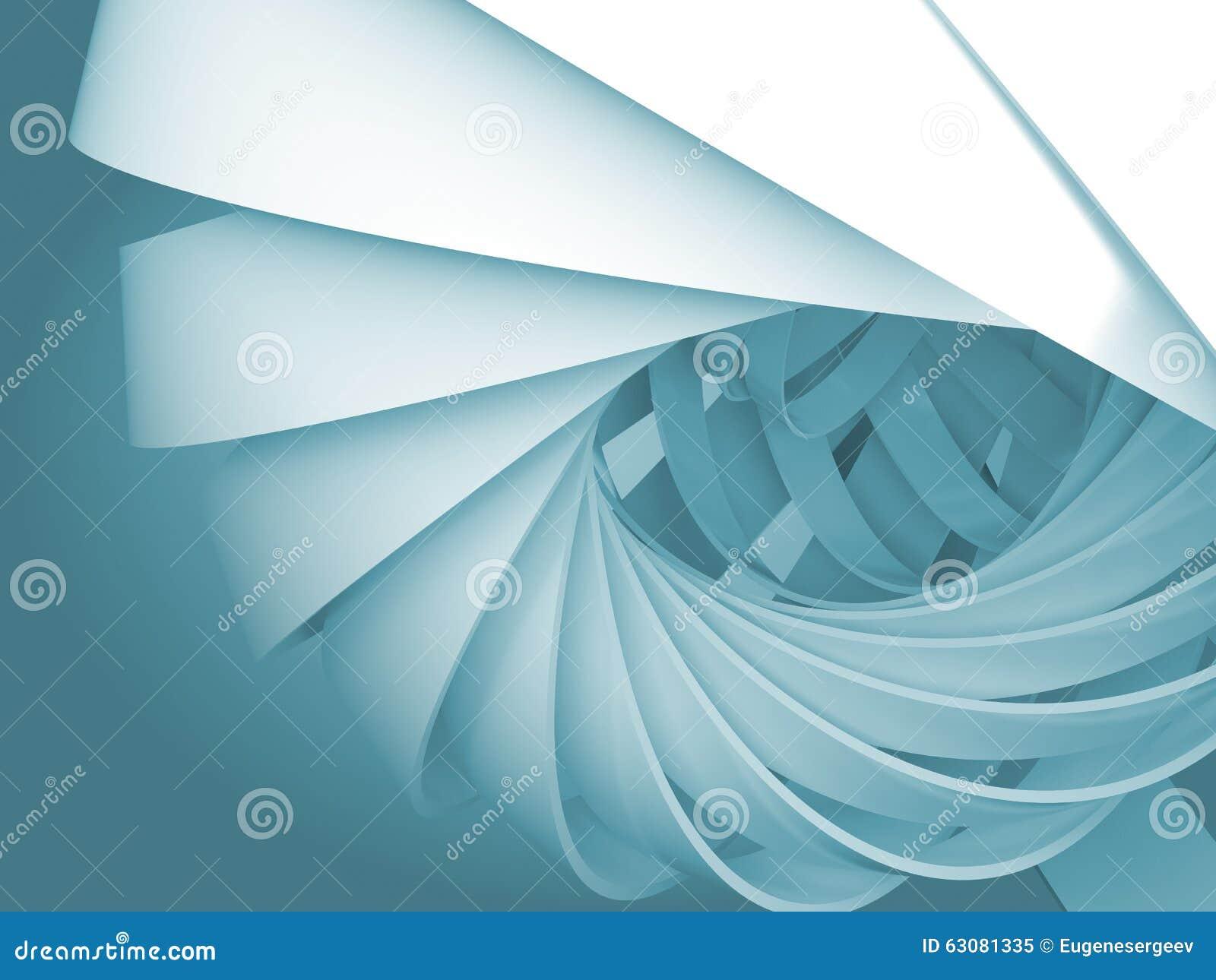 Download Fond Numérique Bleu Avec Des Structures De La Spirale 3d Illustration Stock - Illustration du abstraction, courbé: 63081335