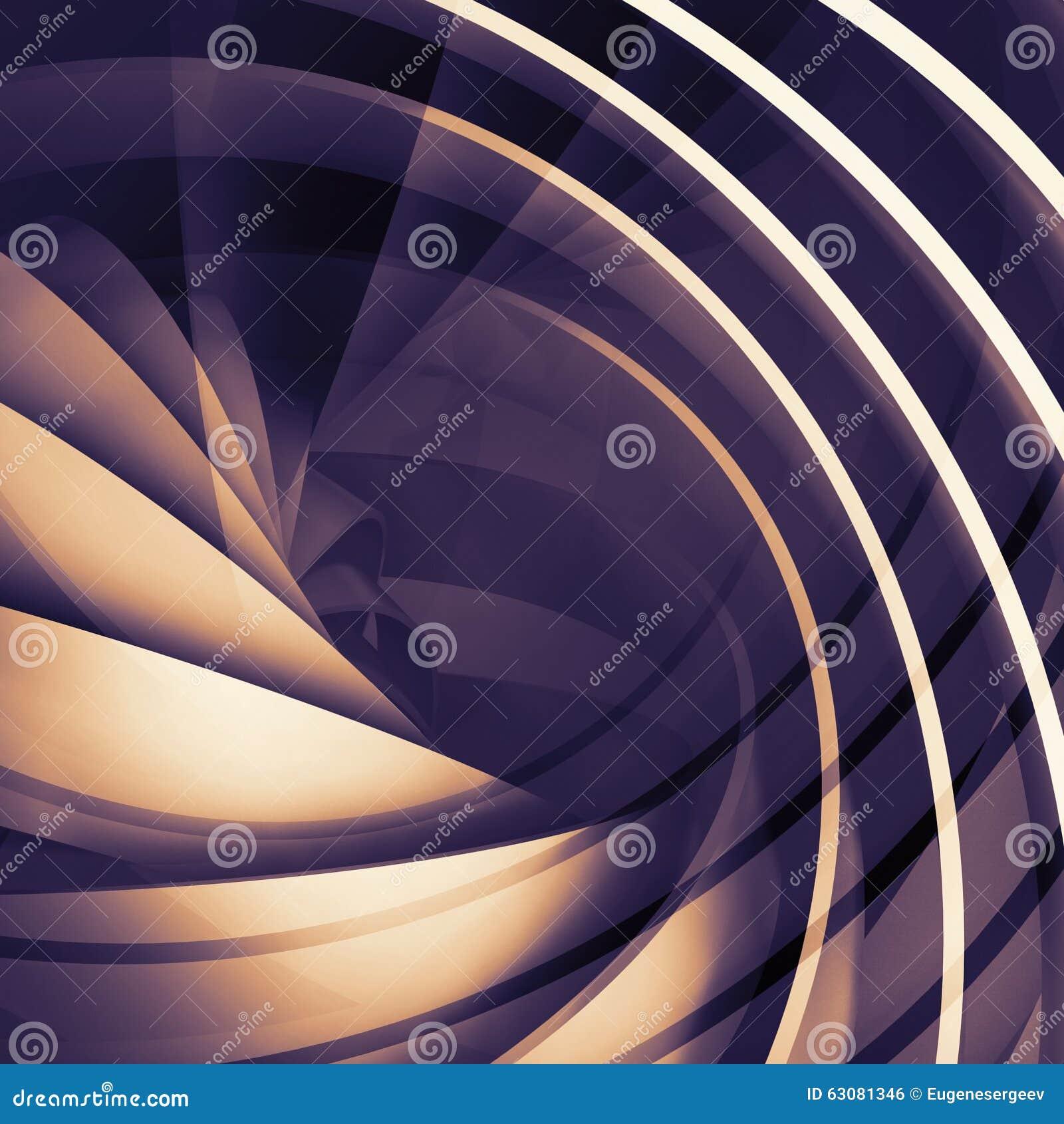 Download Fond Numérique Foncé Carré Abstrait, Spirale 3d Illustration Stock - Illustration du futuriste, cercle: 63081346