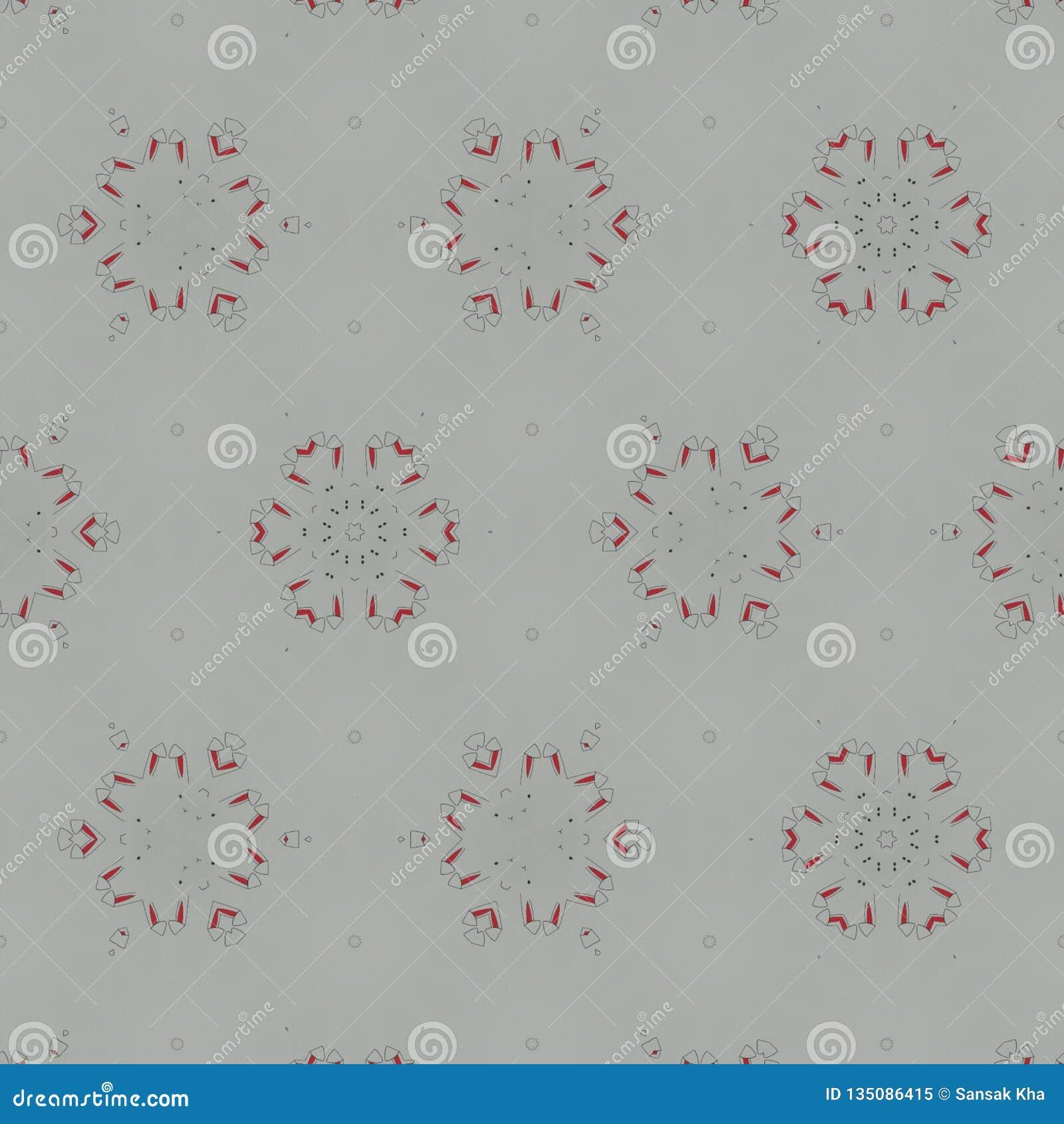 Fond numérique noir, blanc, gris, rouge abstrait avec les particules cybernétiques