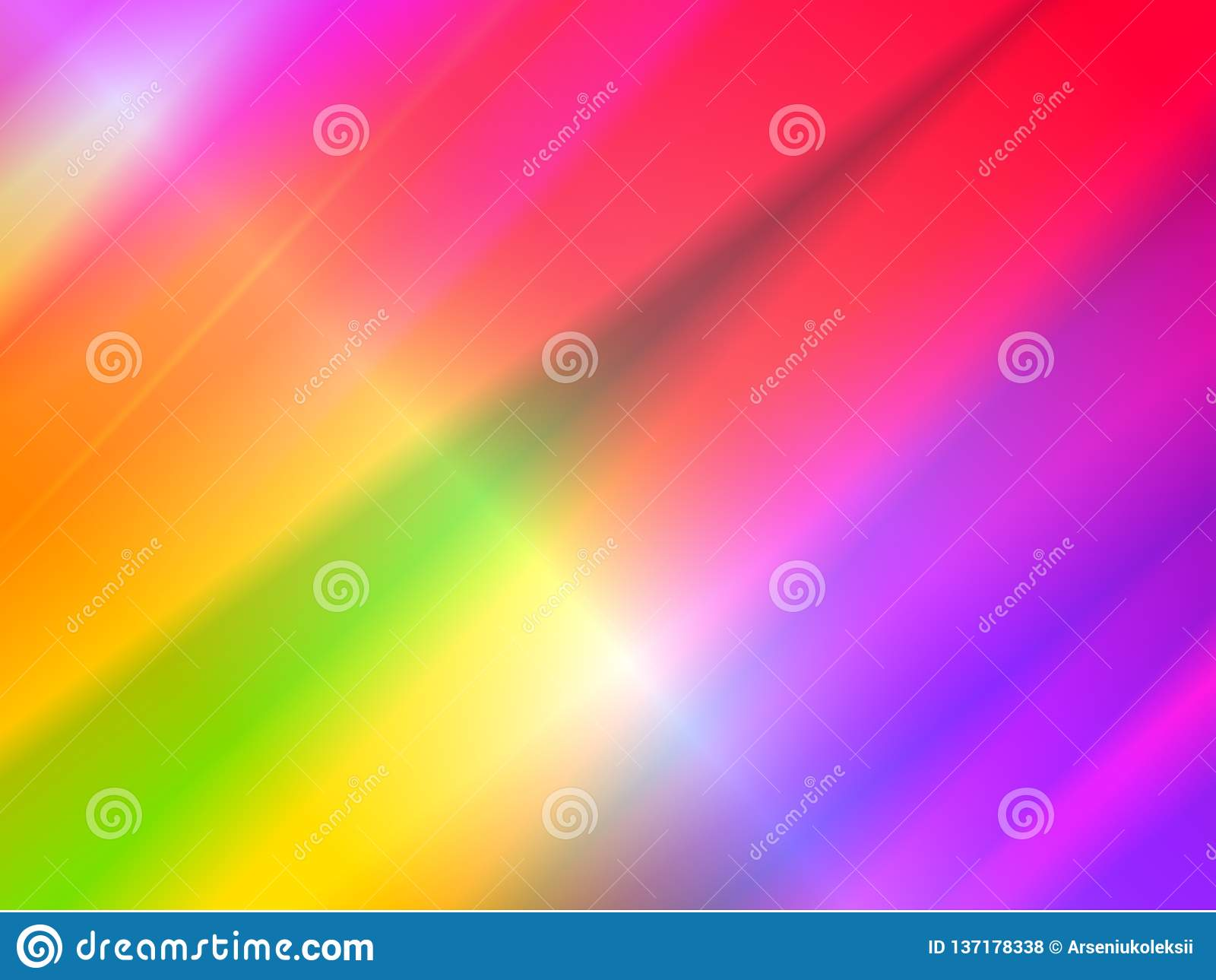 Fond olographe abstrait avec des faisceaux d arc-en-ciel de lumière d effet de dispersion de prisme