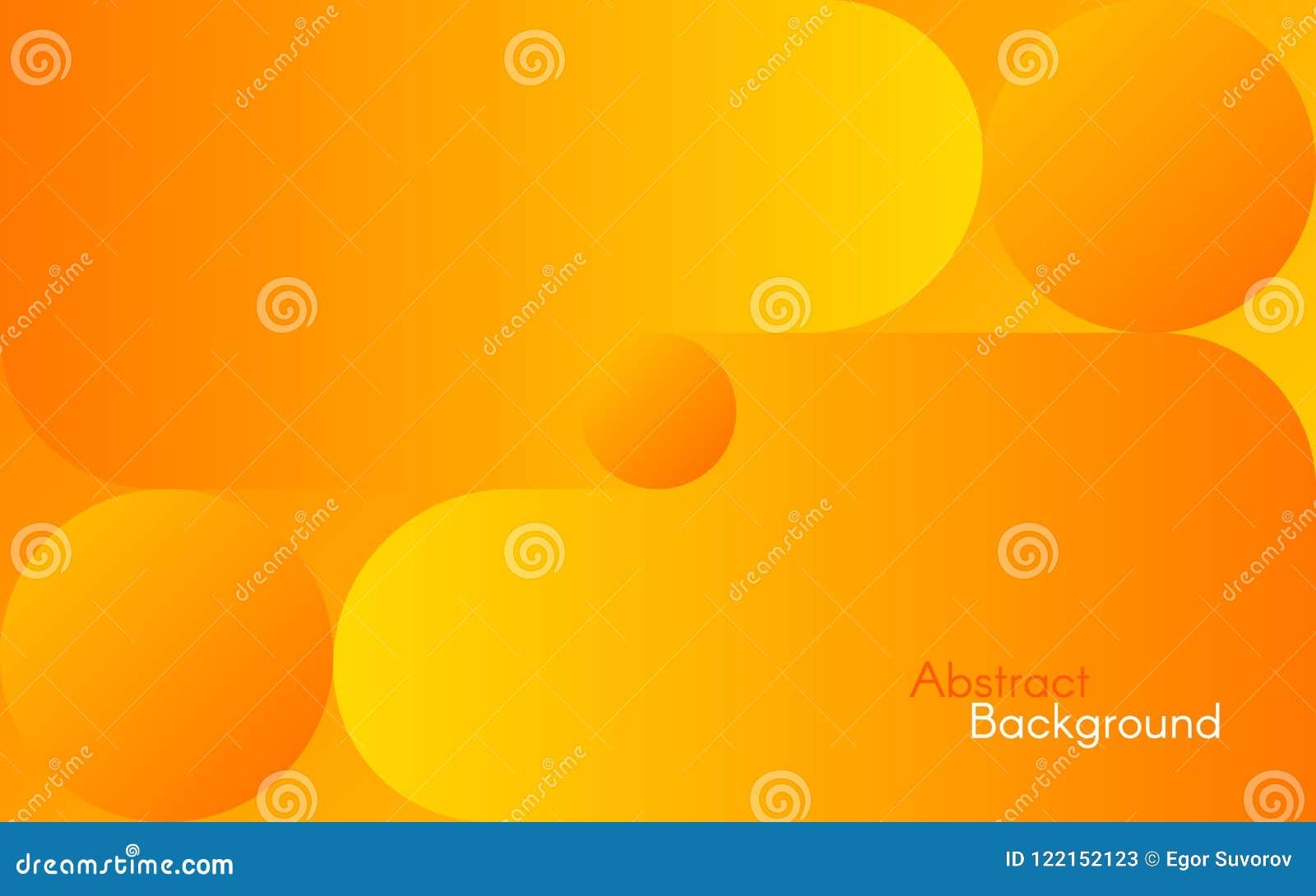 Fond orange abstrait Formes et gradients jaunes lumineux Conception simple pour le Web, brochure, insecte Vecteur