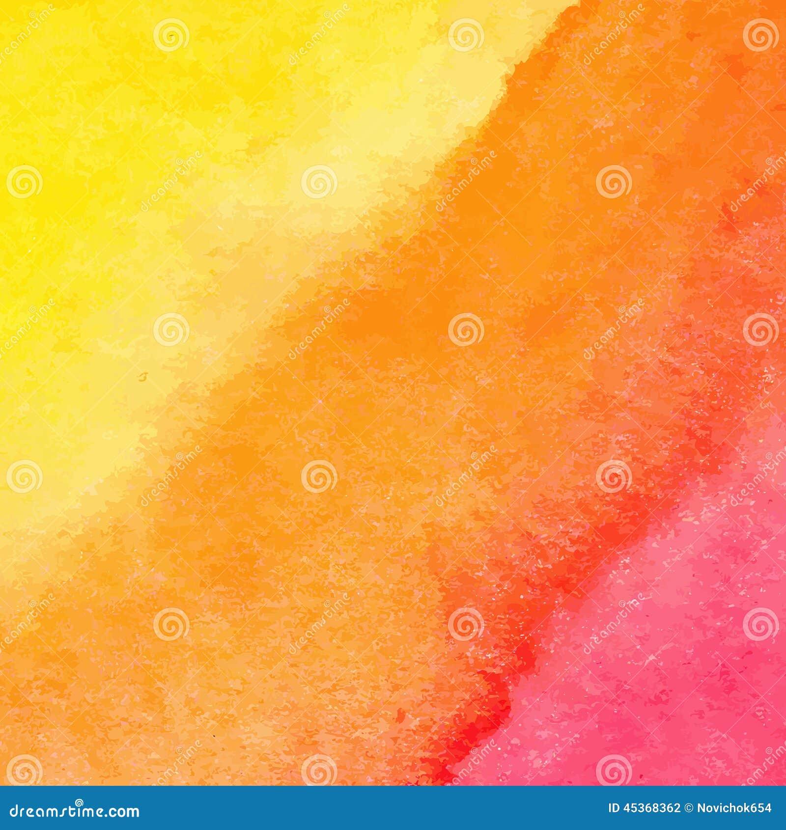 Fond orange et jaune d aquarelle