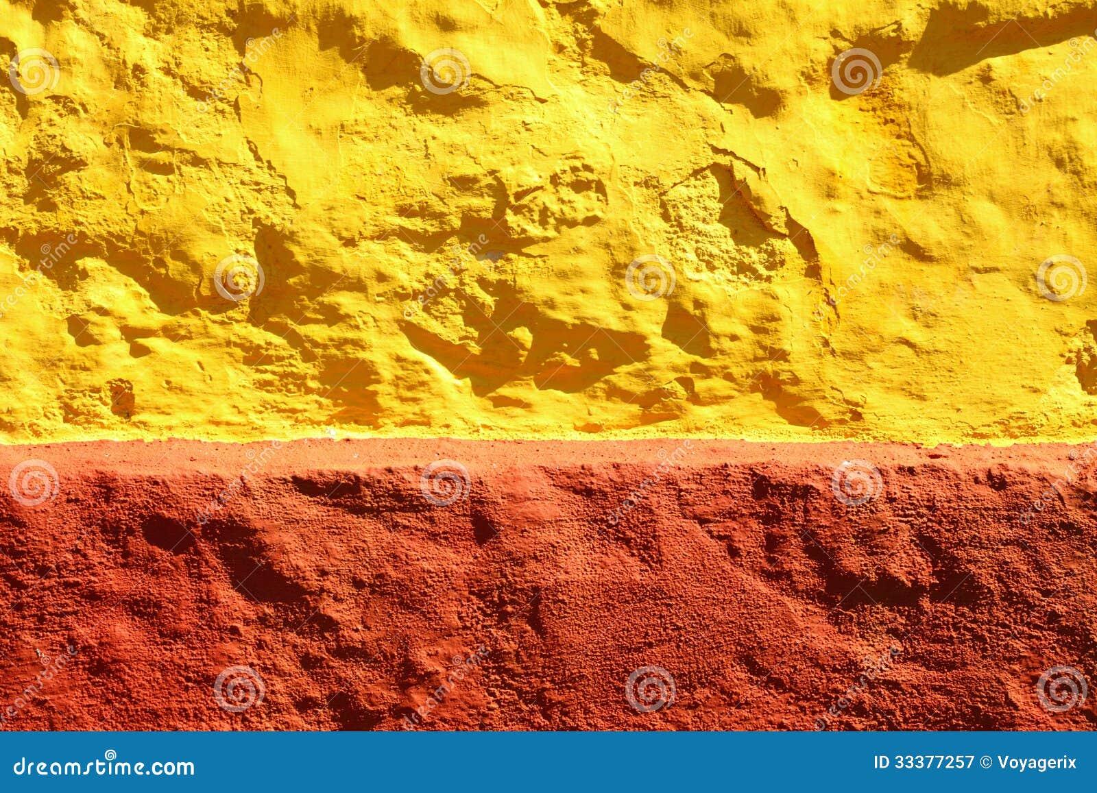 fond ou texture rouge jaune de mur de peinture image stock. Black Bedroom Furniture Sets. Home Design Ideas