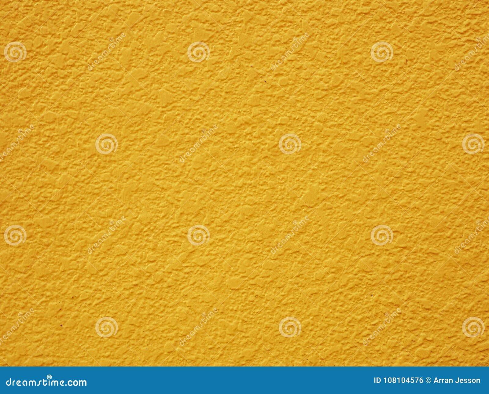 Fond Peint De Mur De Platre Jaune En Pastel De Moutarde Photo Stock