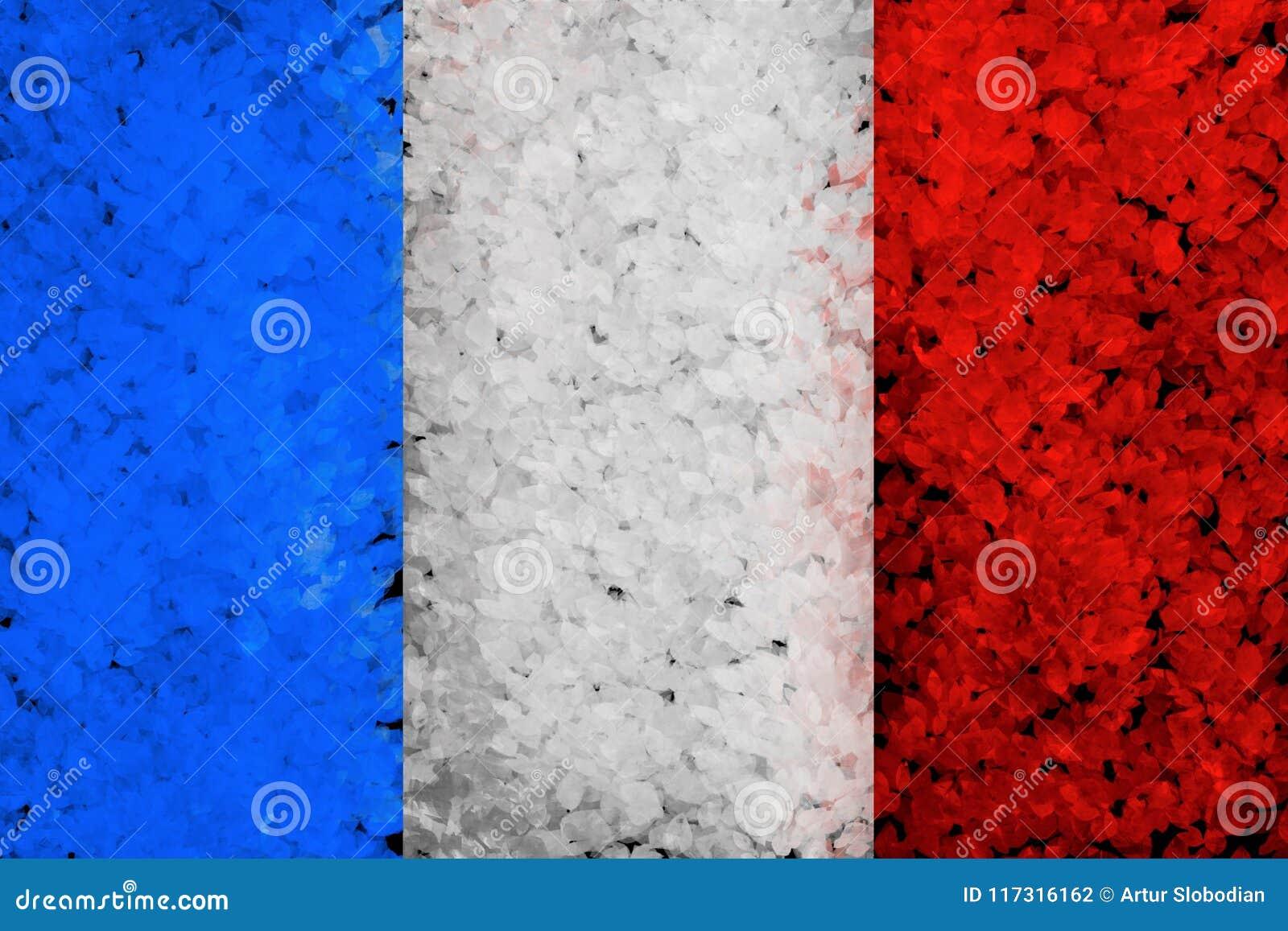 Fond peint par grunge avec le drapeau français