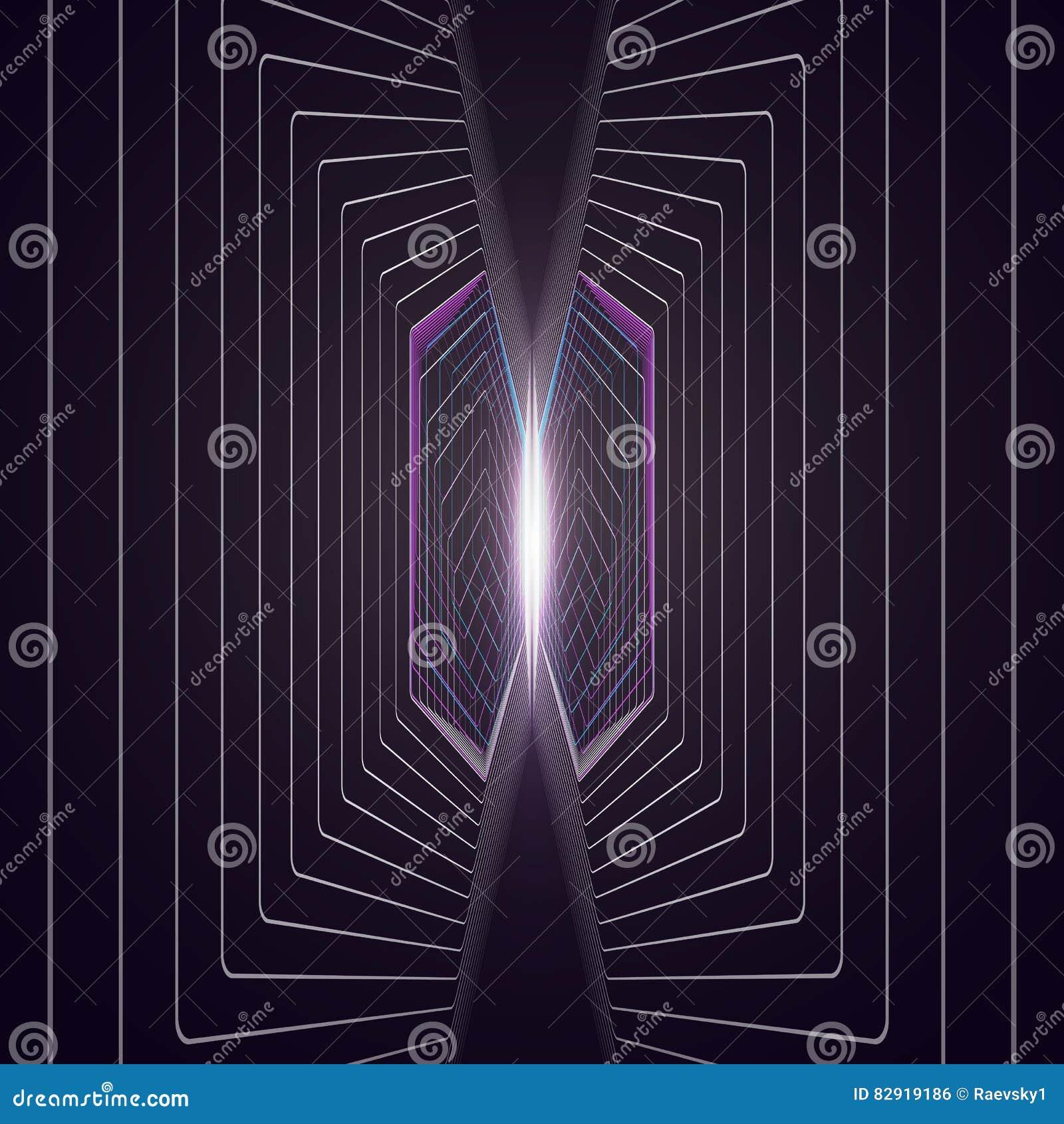 Fond Polygonal Abstrait Avec Des Hexagones Illusion De Profondeur