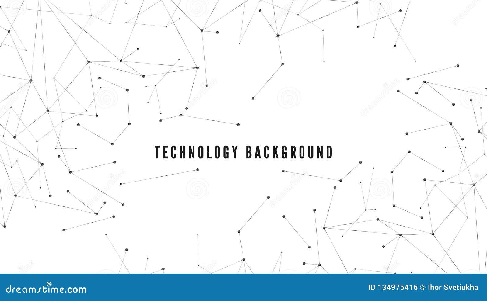 Fond polygonal Conception de technologie ou de science Structure abstraite de grandes données Points et lignes modèle de Web Illu