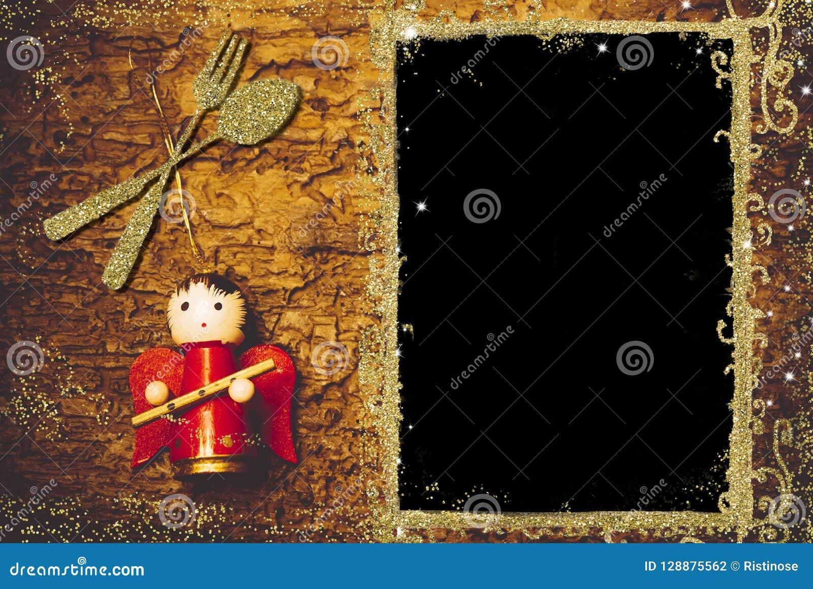 Dessin De Menu Pour Noel.Fond Pour Ecrire Le Menu De Noel Photo Stock Image Du Jour