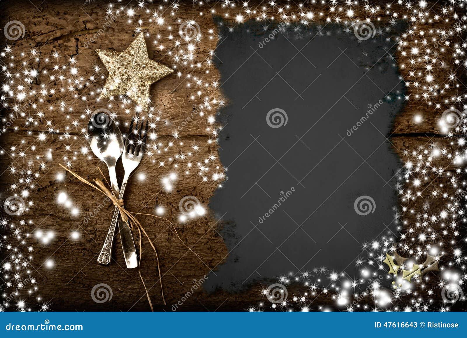 Decoration De Menu De Noel.Fond Pour Ecrire Le Menu De Noel Image Stock Image Du