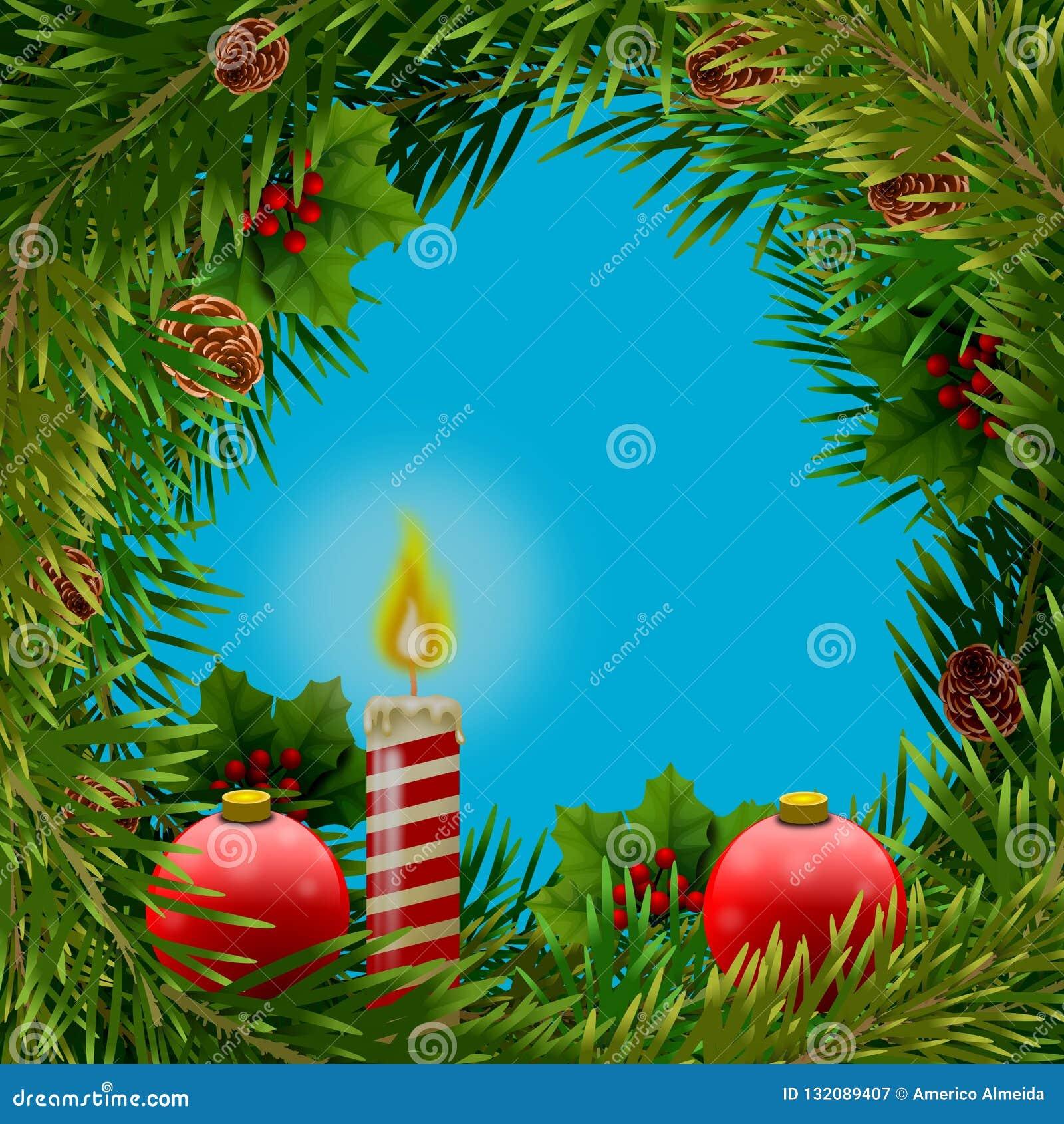 Bouquet De Noel Avec Du Houx fond pour la carte postale de noël avec le bouquet des
